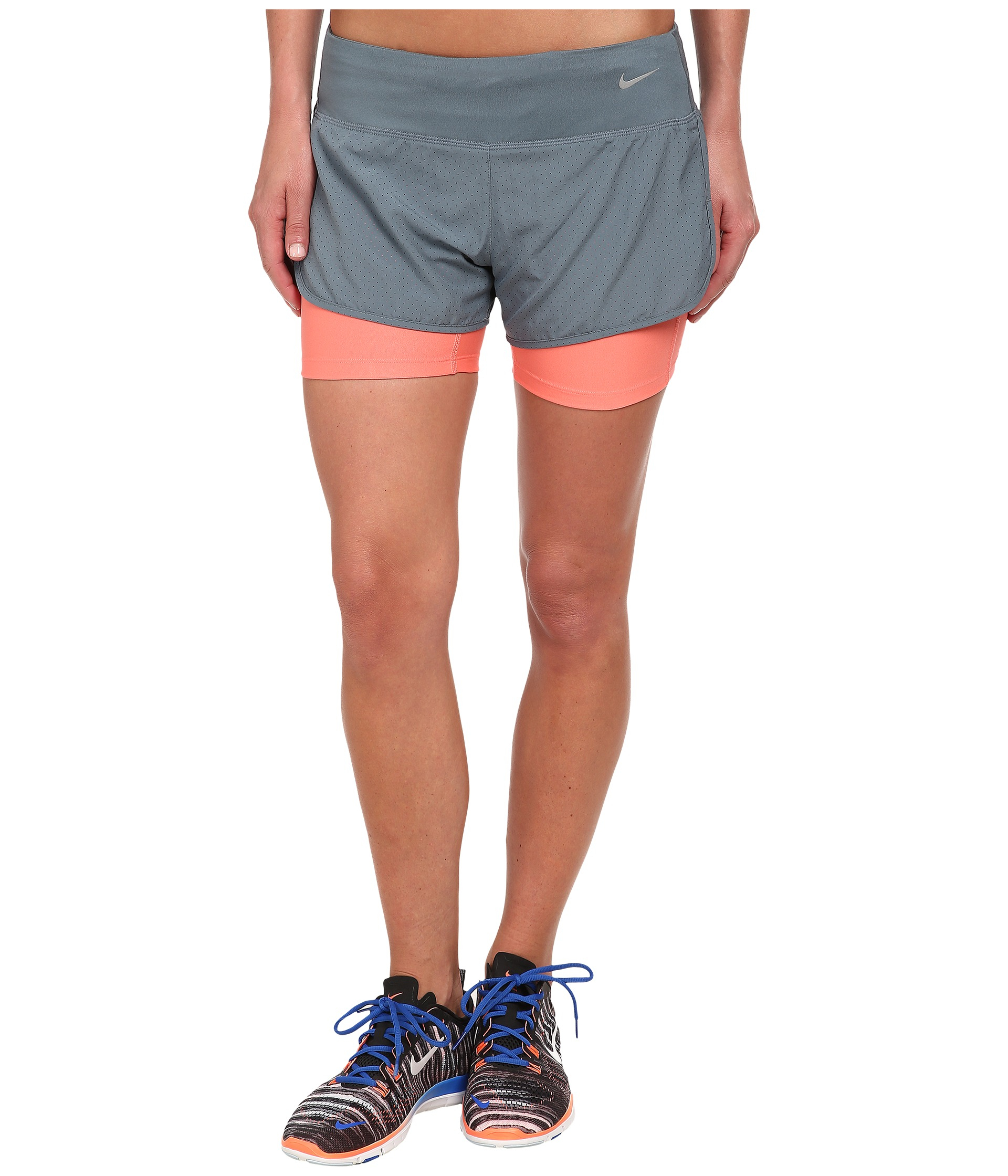 15646120d1ac0 Nike Perforated Rival 2-in-1 Short in Blue - Lyst