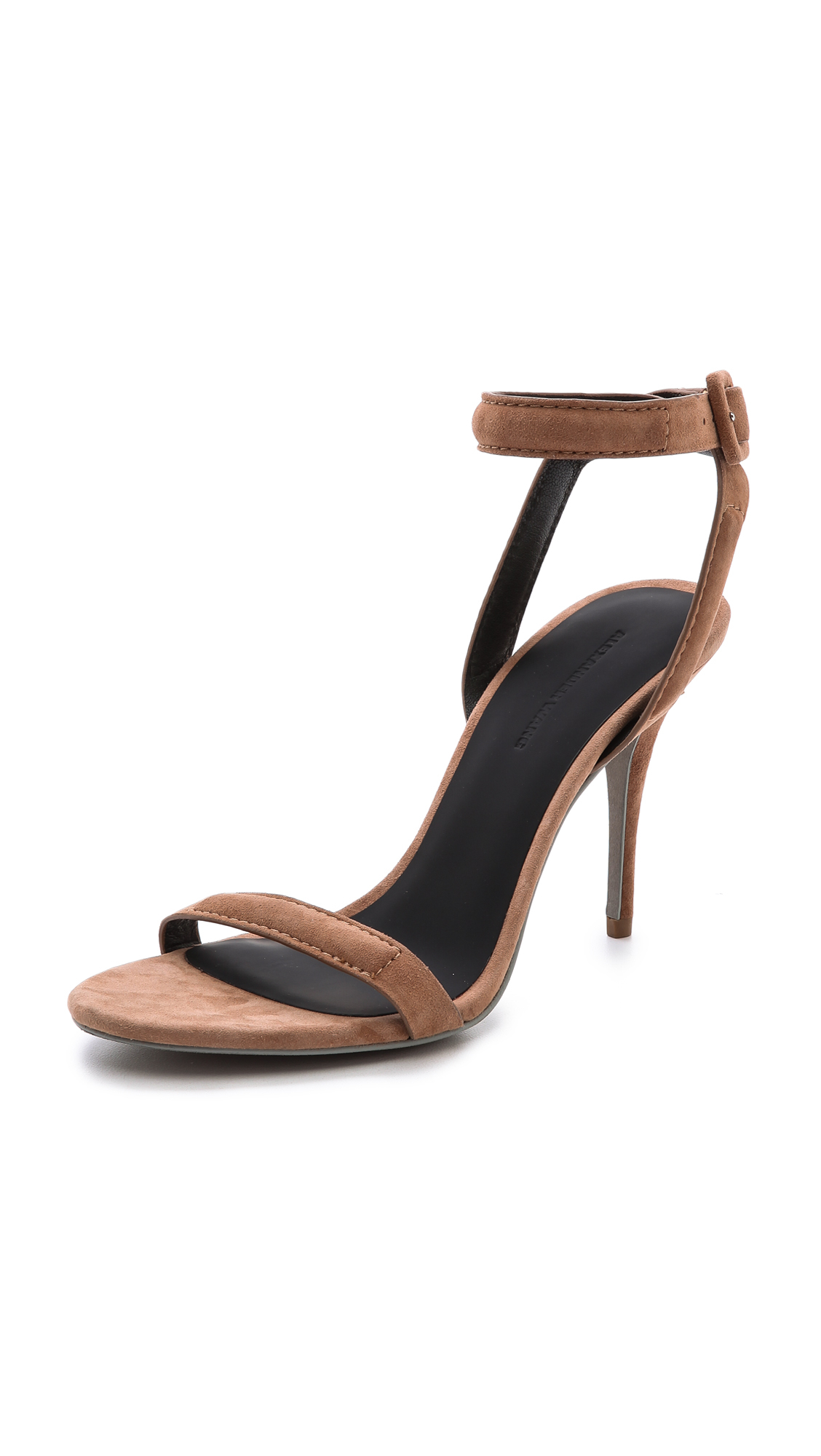 Lyst - Alexander Wang Antonia Ankle Strap Sandals Beige in Natural 170ebf6029d