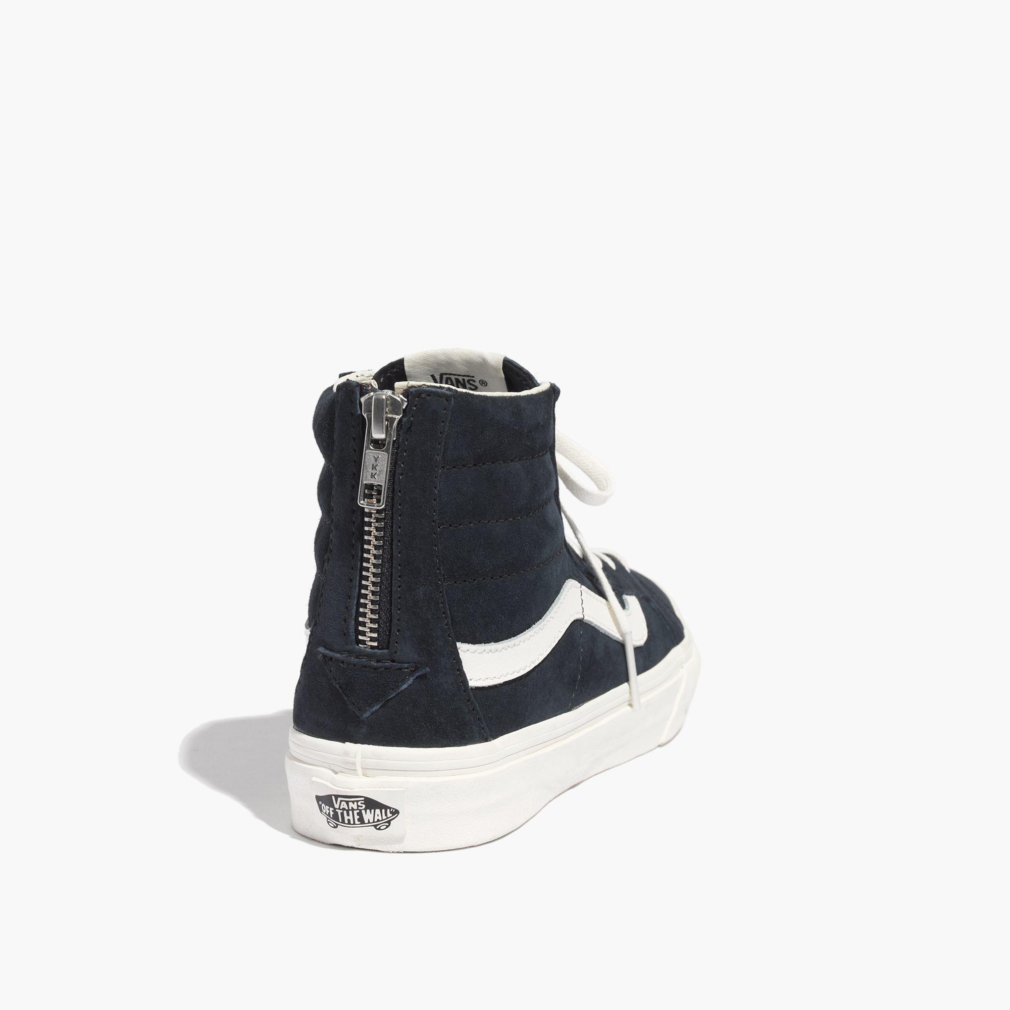 c920e510b39a74 Lyst - Madewell Vans® Sk8-Hi Slim Zip High-Top Sneakers In Navy ...
