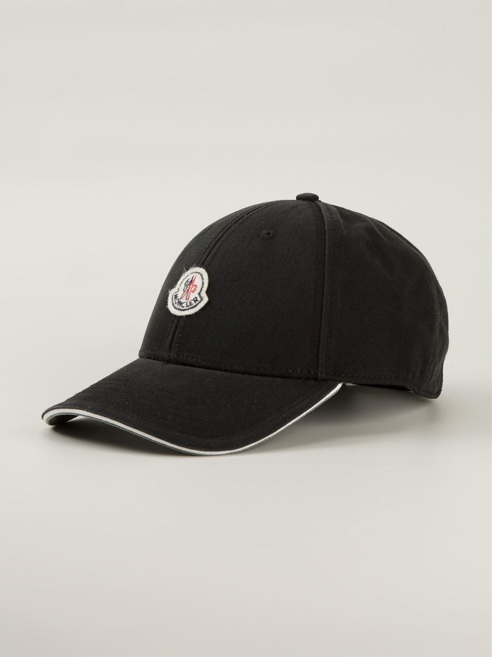 f337fa1aef2 Lyst - Moncler Classic Baseball Cap in Black for Men