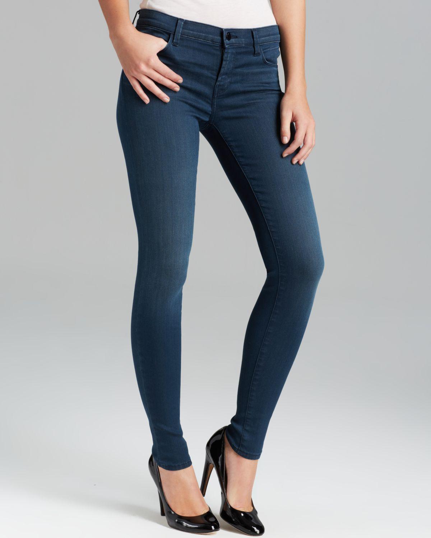 8068bbece1b3 J Brand Jeans 620 Mid Rise Super Skinny in Heaven in Blue - Lyst