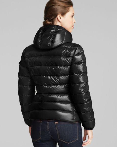 Black Bubble Coat Short Down Coat in Black