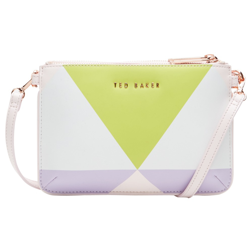 eb723dfeaf7c1 Ted Baker Leana Harlequin Leather Across Body Clutch Bag in White - Lyst