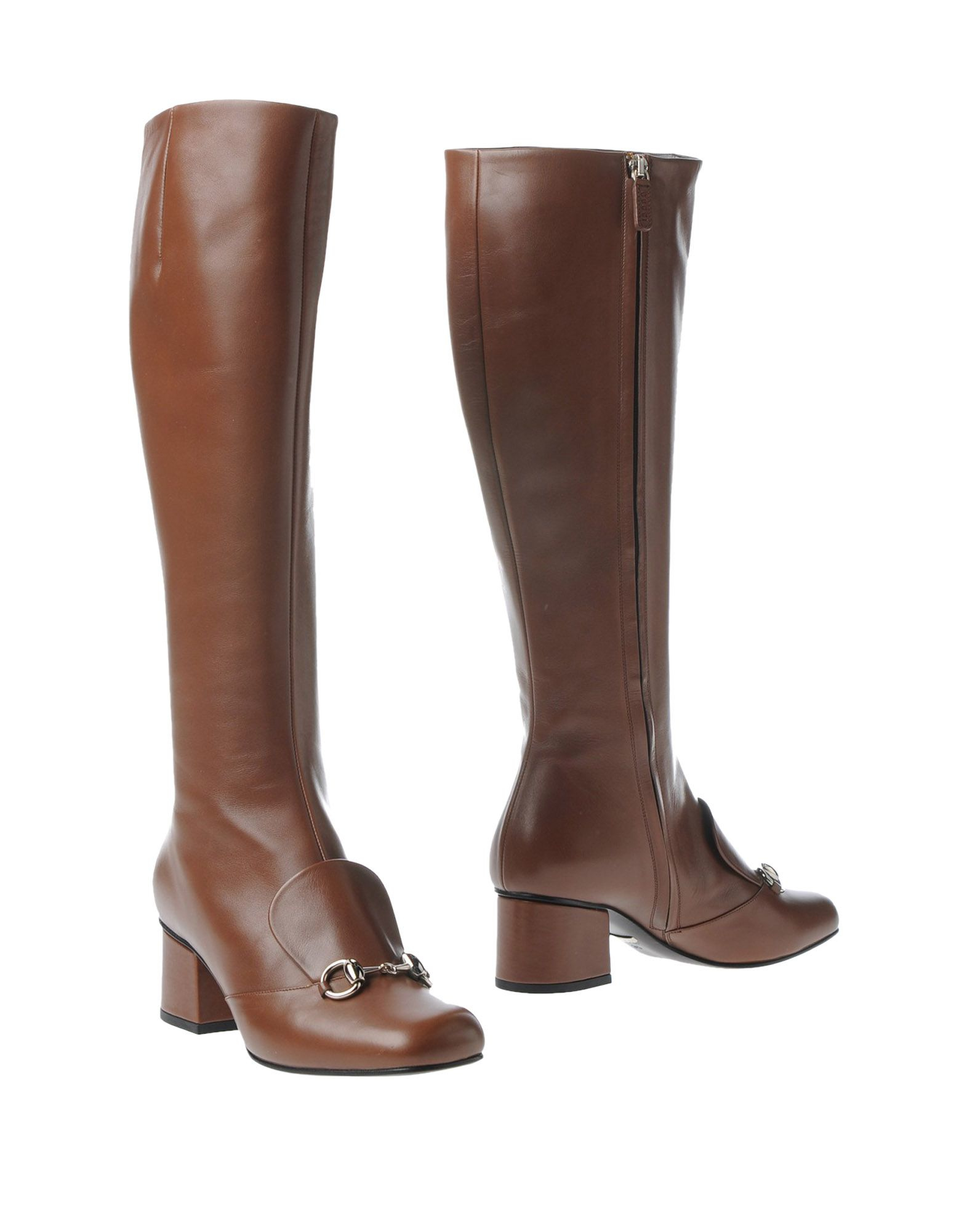 gucci boots in brown lyst