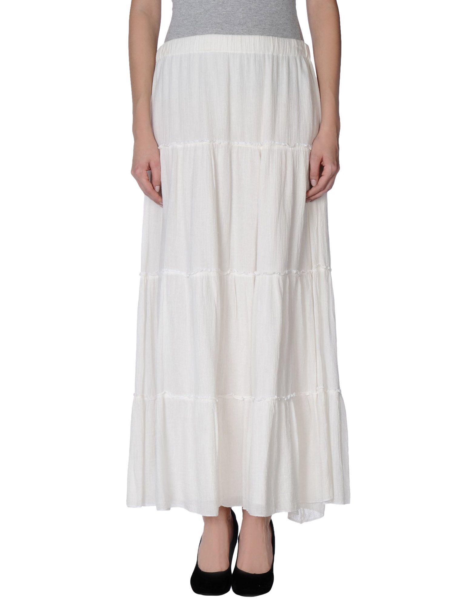 Lyst - Bobi Long Skirt in White