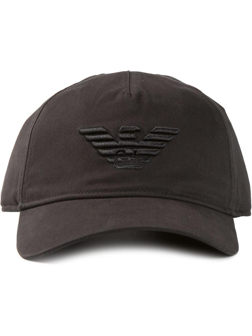 Emporio Armani Logo Embroidered Baseball Cap in Black for Men - Lyst effc66d3c87
