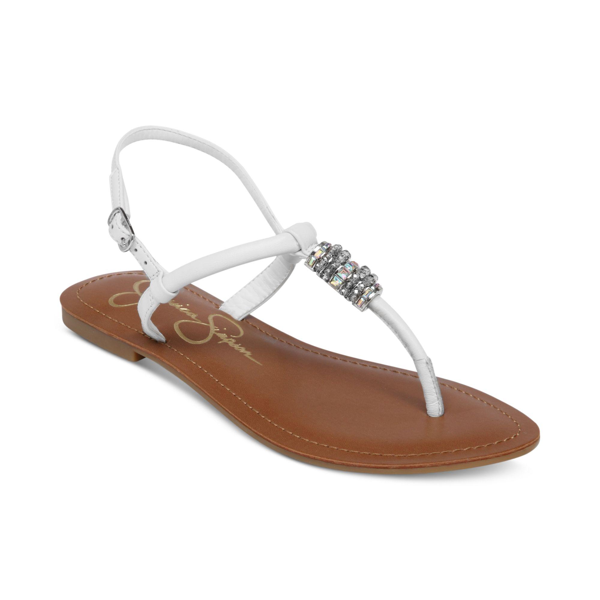 Lyst Jessica Simpson Regattah Flat Thong Sandals In White
