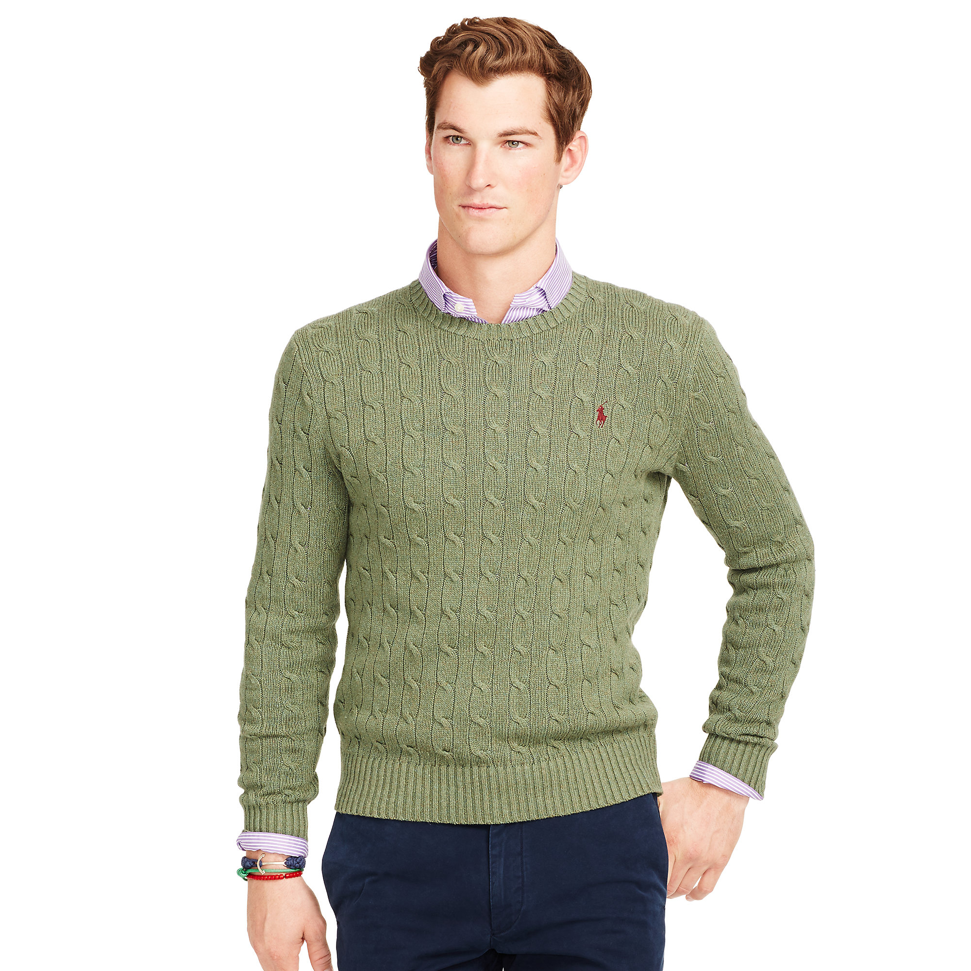 Polo Ralph Lauren Mens Cable Knit Sweater 59