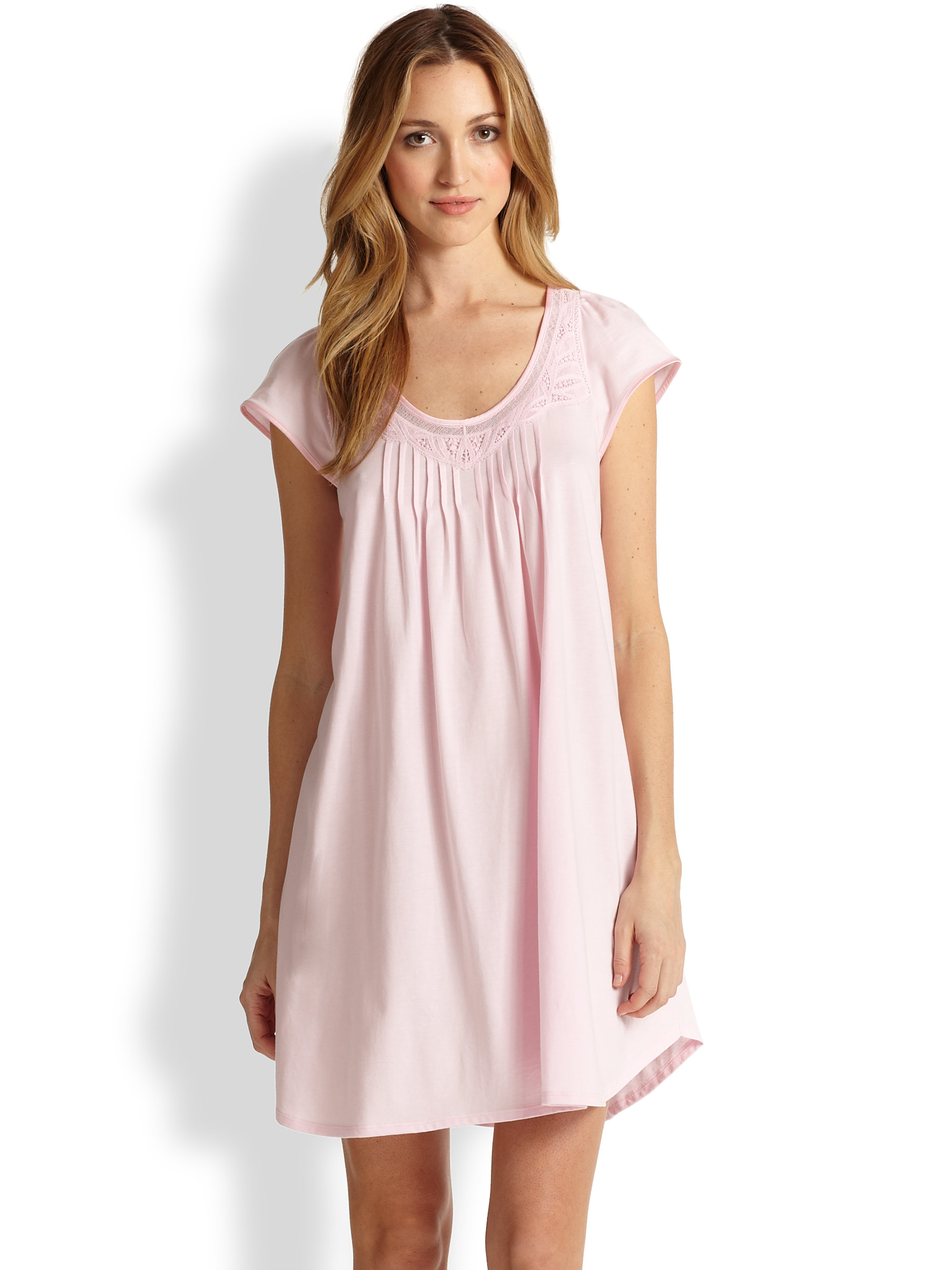 Lyst - Cottonista Cap Sleeve Gown in Pink