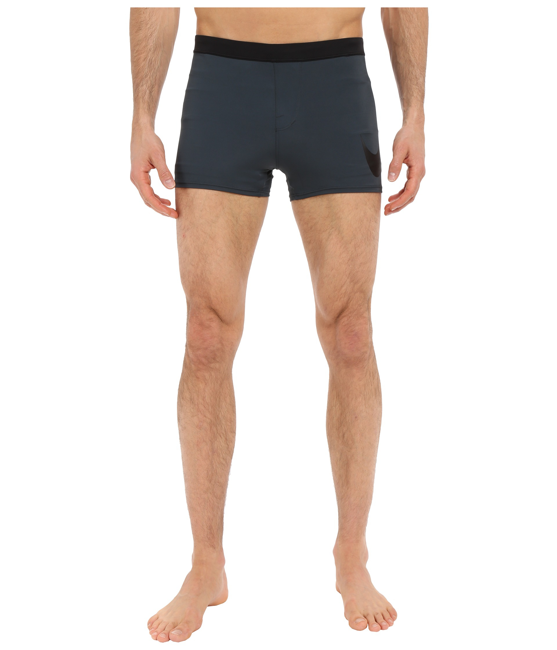 460155bbf9 Nike Metro Big Swoosh Square Leg Swim Trunk in Gray for Men - Lyst