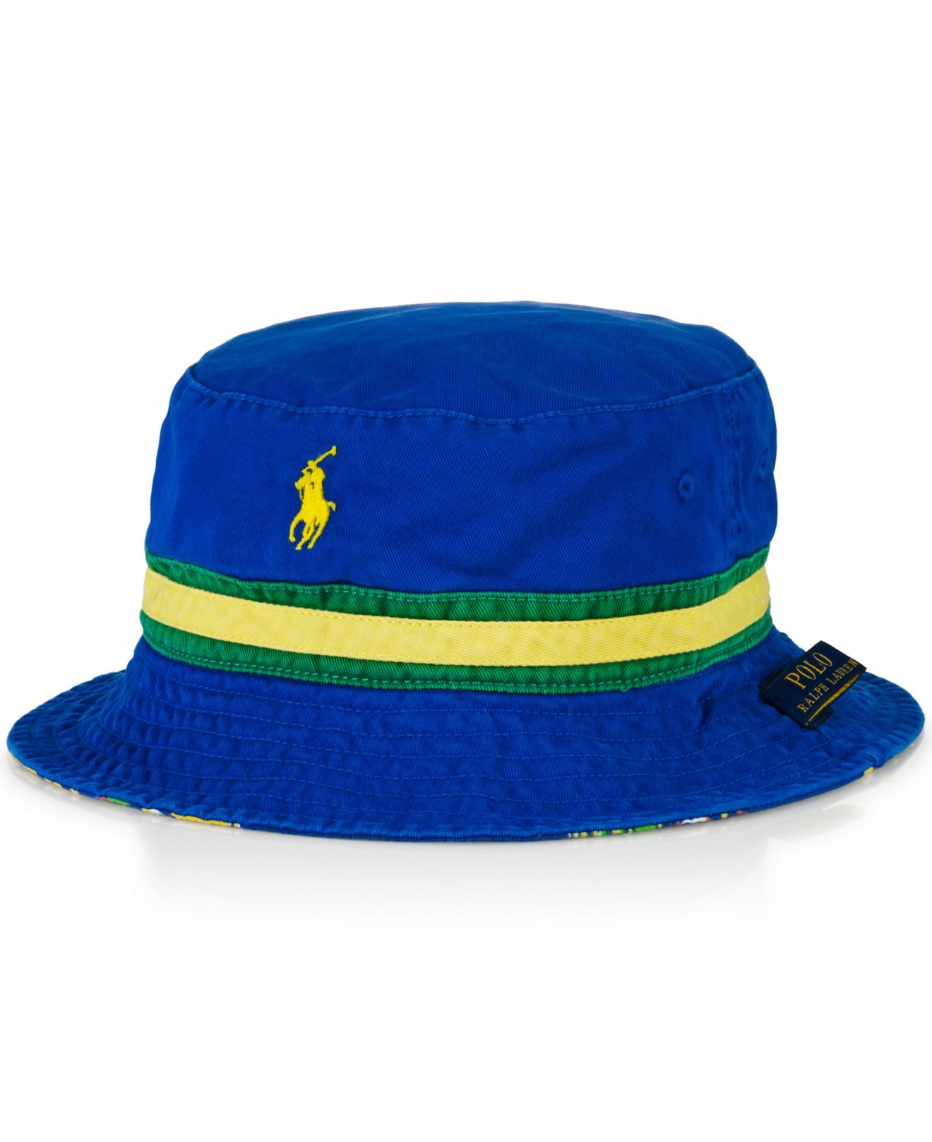 c27ac1d740410 Polo Ralph Lauren Reversible Bucket Hat in Blue for Men - Lyst