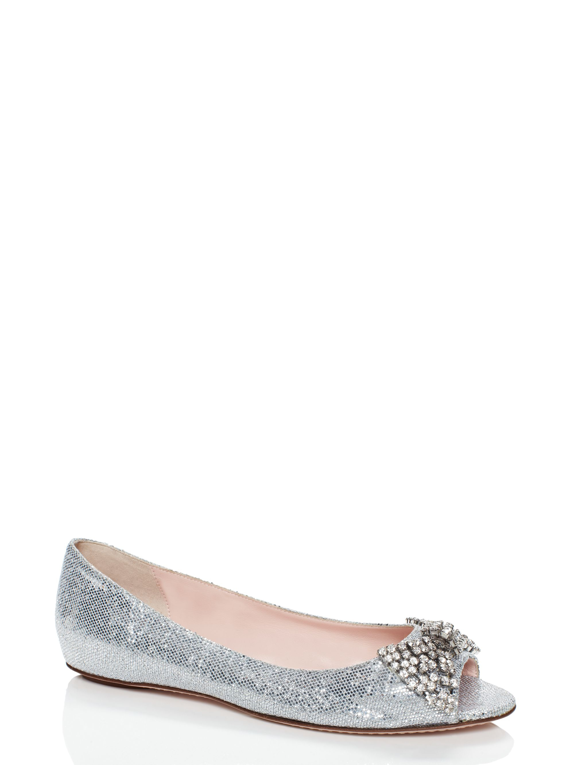Kate spade new york vanna flats in white lyst for Kate spade new york flats
