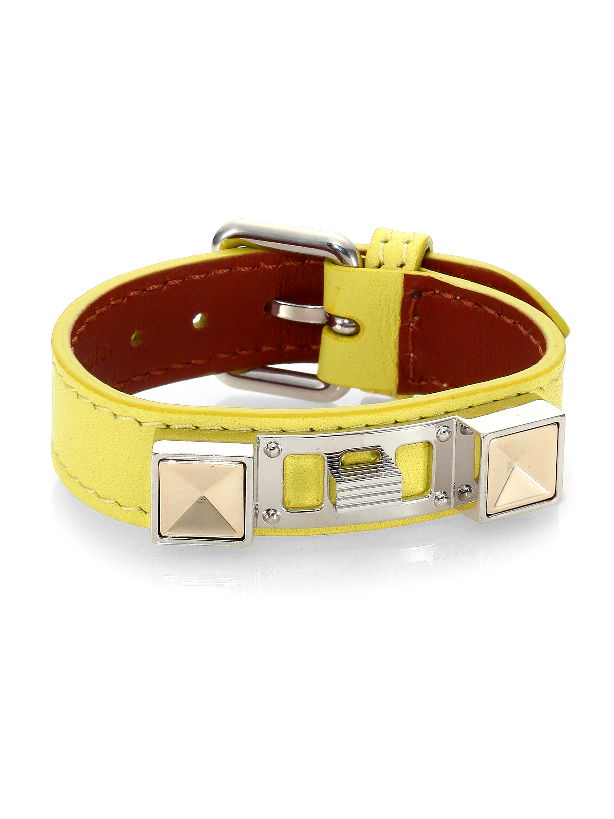 Proenza Schouler Ps11 Small Leather Bracelet in Yellow (LEMON)