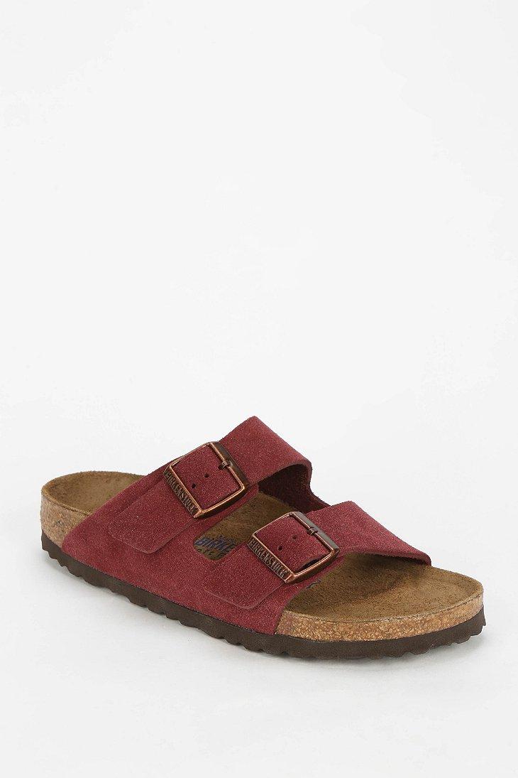 Birkenstock Arizona Soft Footbed Suede Sandal in Red