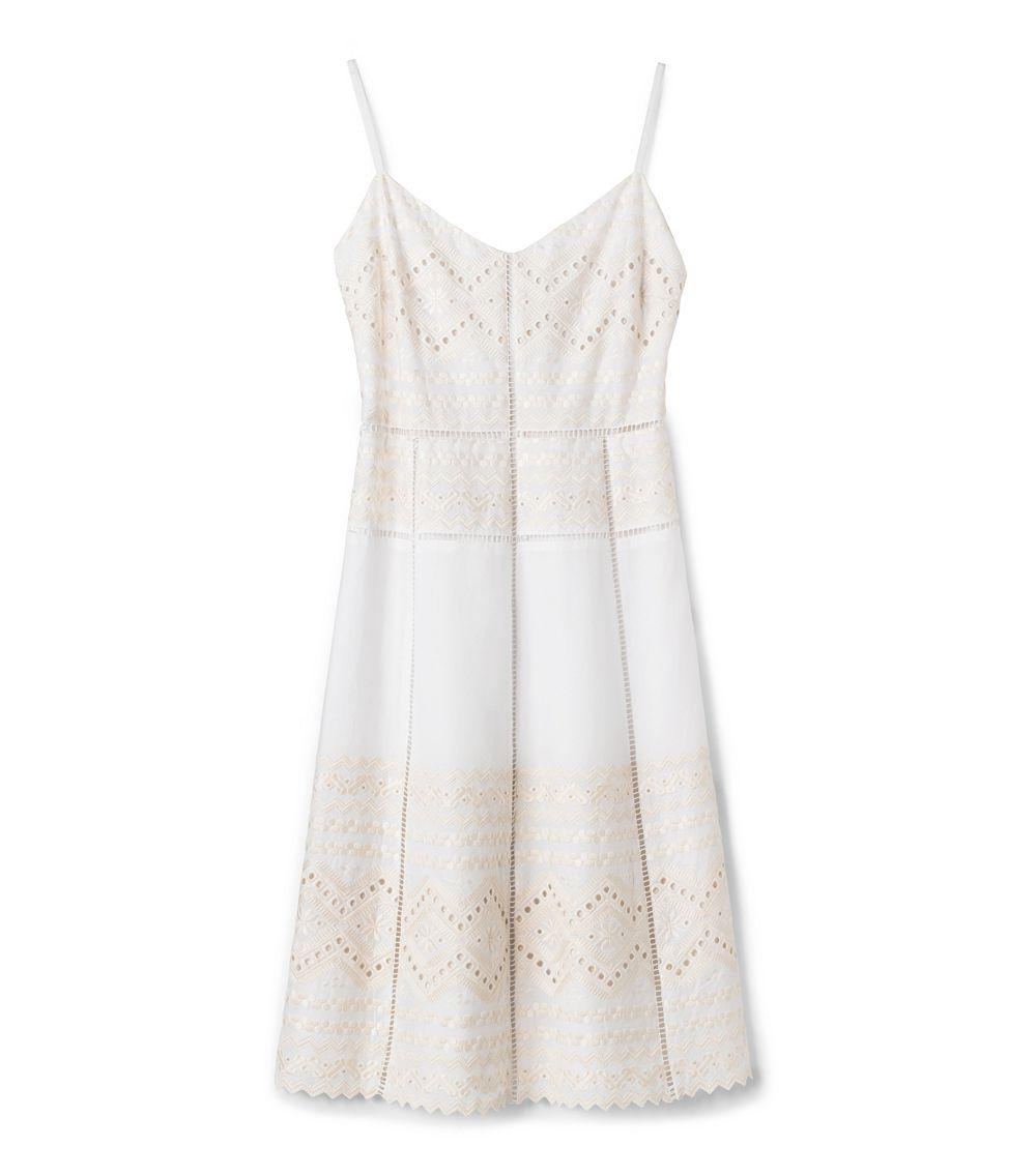 e332c35ac90 Tory Burch Tiara Dress in White - Lyst
