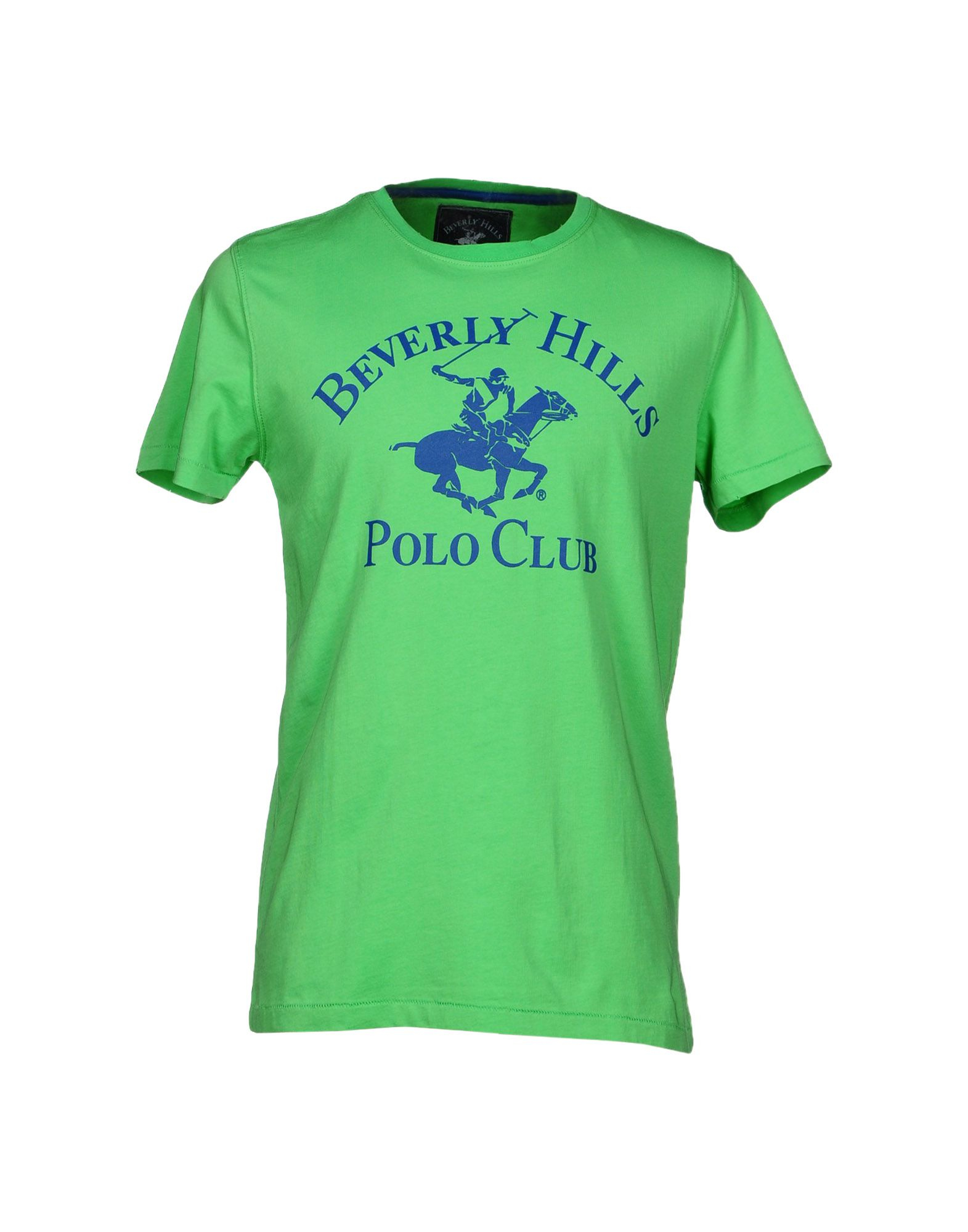 Lyst beverly hills polo club t shirt in green for men for T shirts for clubs