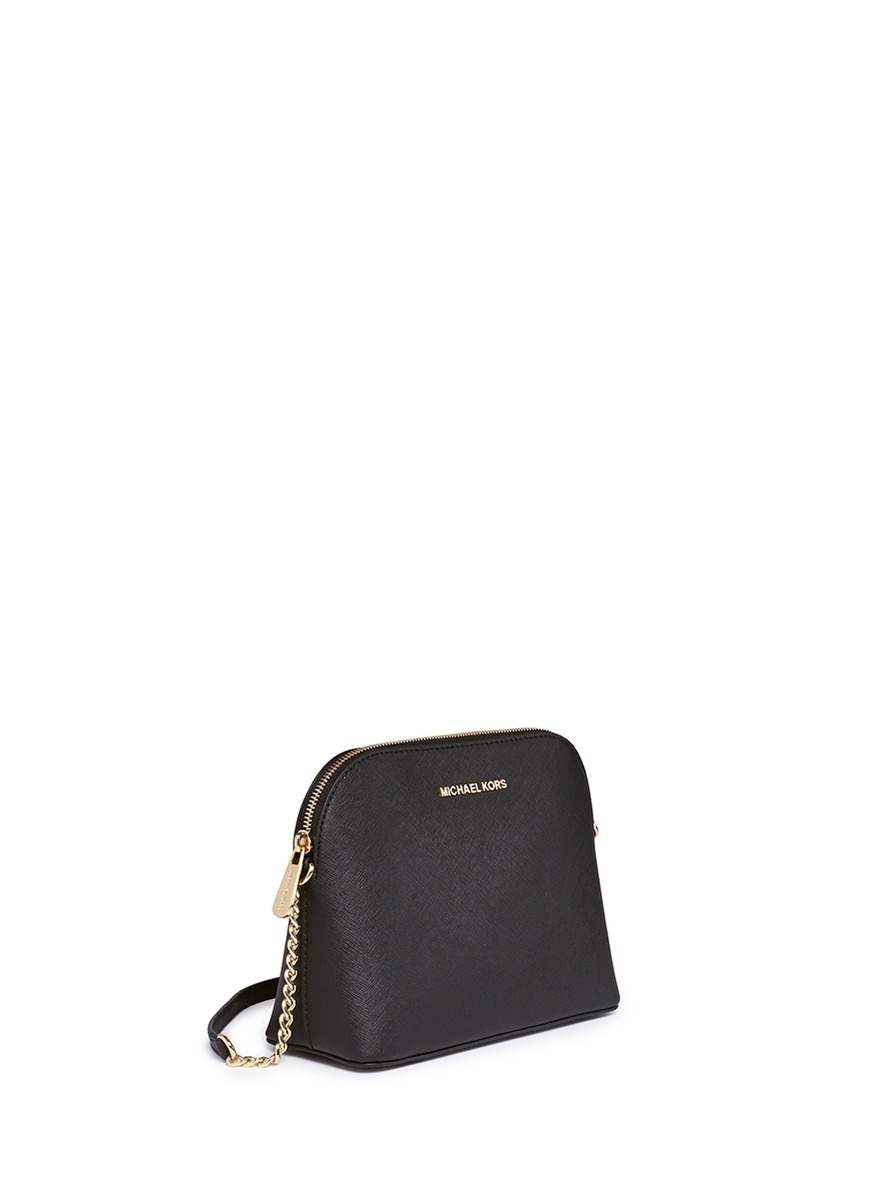 8a4c3244d576 Michael Kors 'cindy' Large Saffiano Leather Crossbody Bag in Black - Lyst