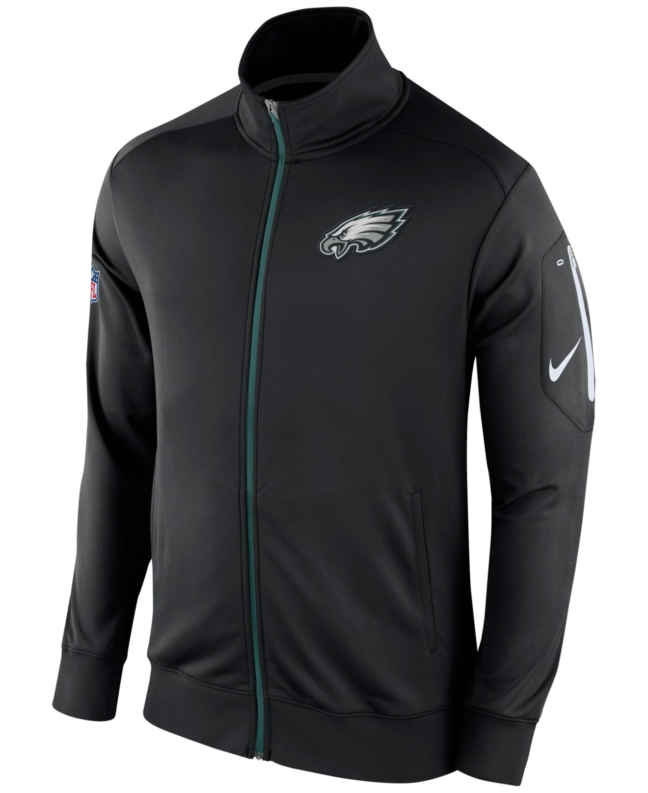 ... Nike Men s Philadelphia Eagles Empower Jacket in Black for Men ... Nike  Eagles  25 LeSean McCoy Grey Shadow Men s Stitched NFL Elite Jersey ... ab8b2e38e