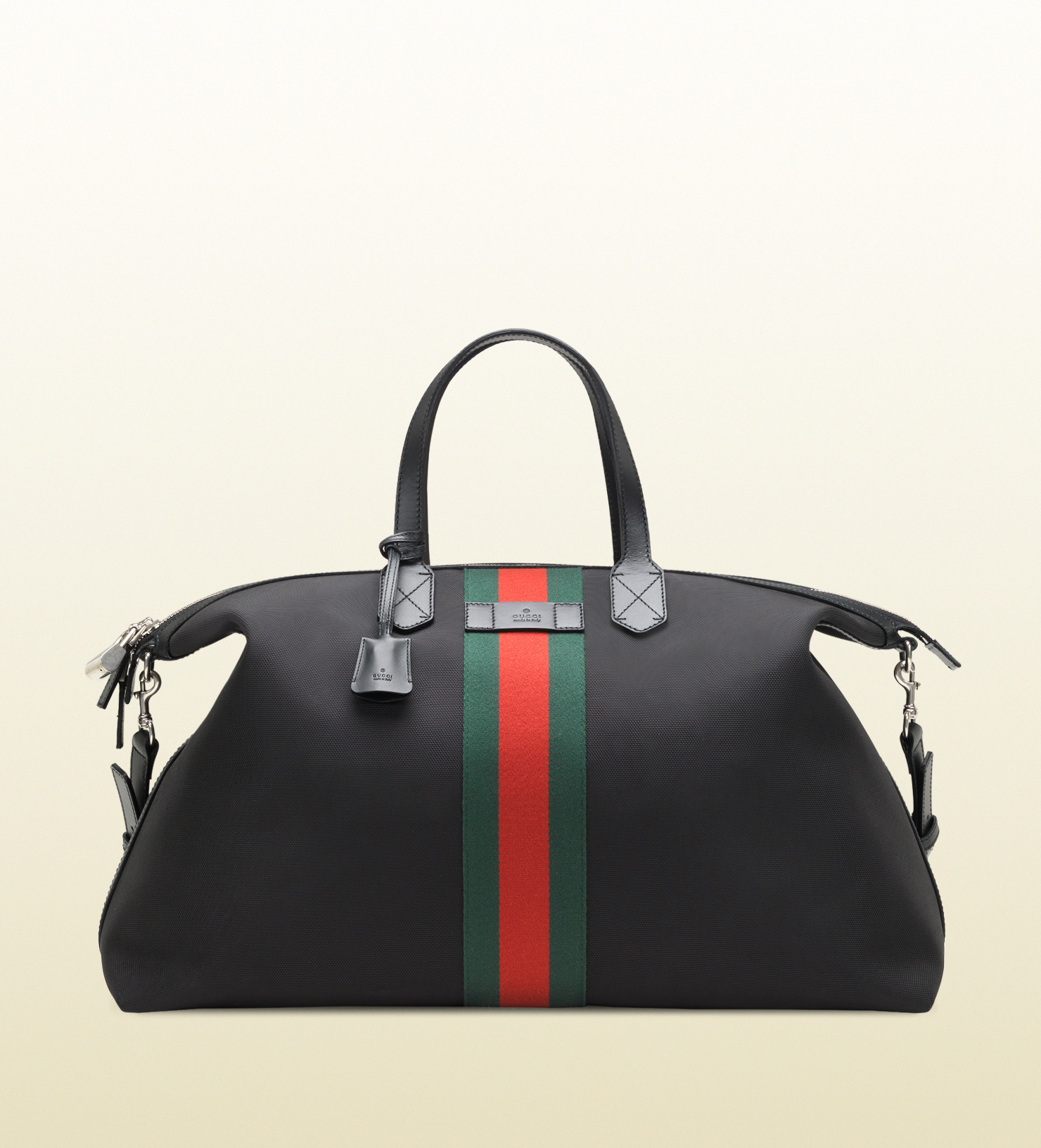 070ef5aff9b8 Lyst - Gucci Techno Canvas Duffle Carry-on Bag in Black for Men
