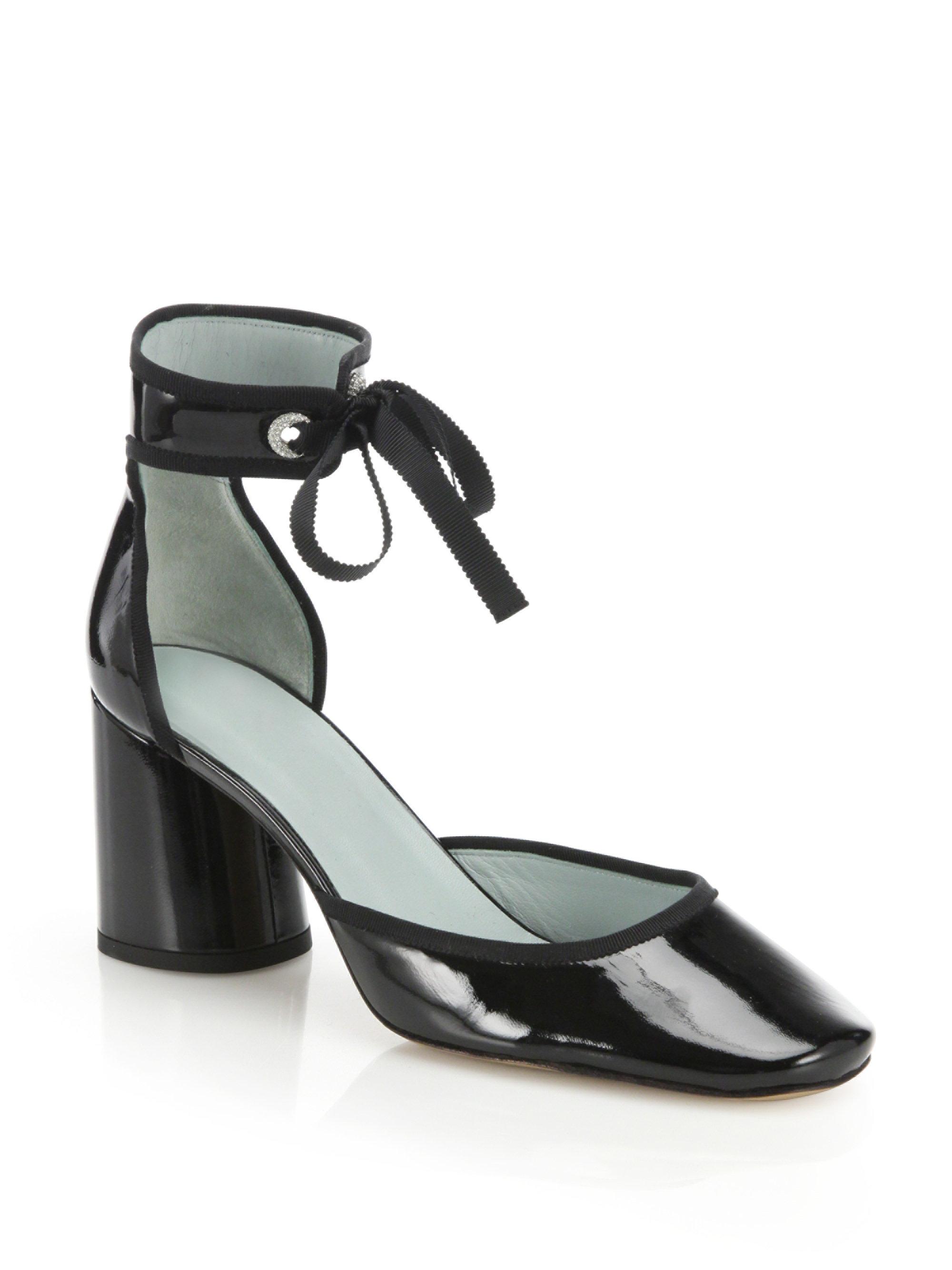 7cc4ec7d5761 Lyst - Marc Jacobs Elle Patent Leather Ankle-strap D orsay Pumps in ...