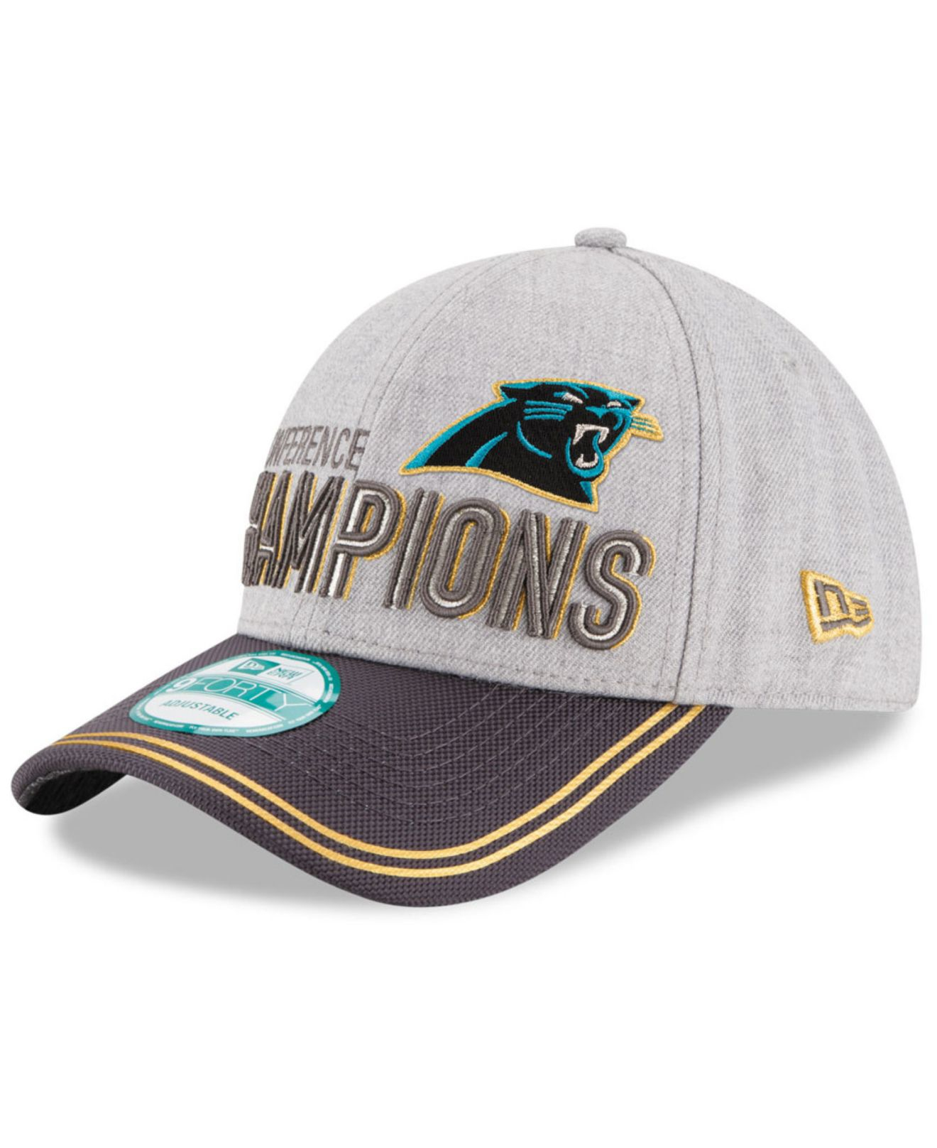 Lyst - KTZ Carolina Panthers Super Bowl 50 Conference Champ Cap in ... 1a3a5d4bd