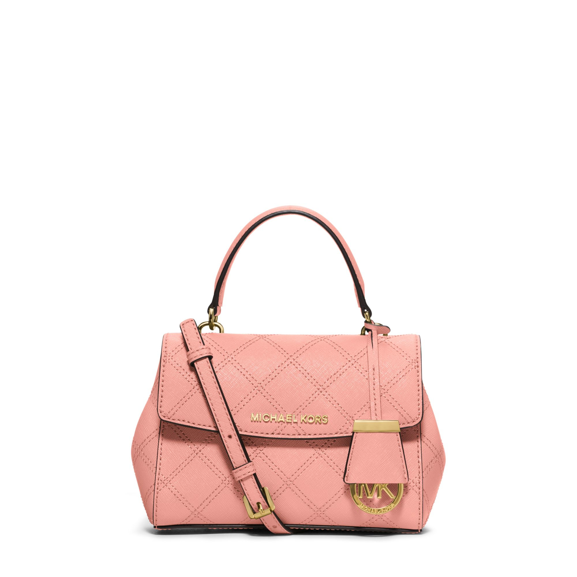 a2348fbd3078 Michael Kors Ava Extra-small Saffiano Leather Crossbody in Pink - Lyst