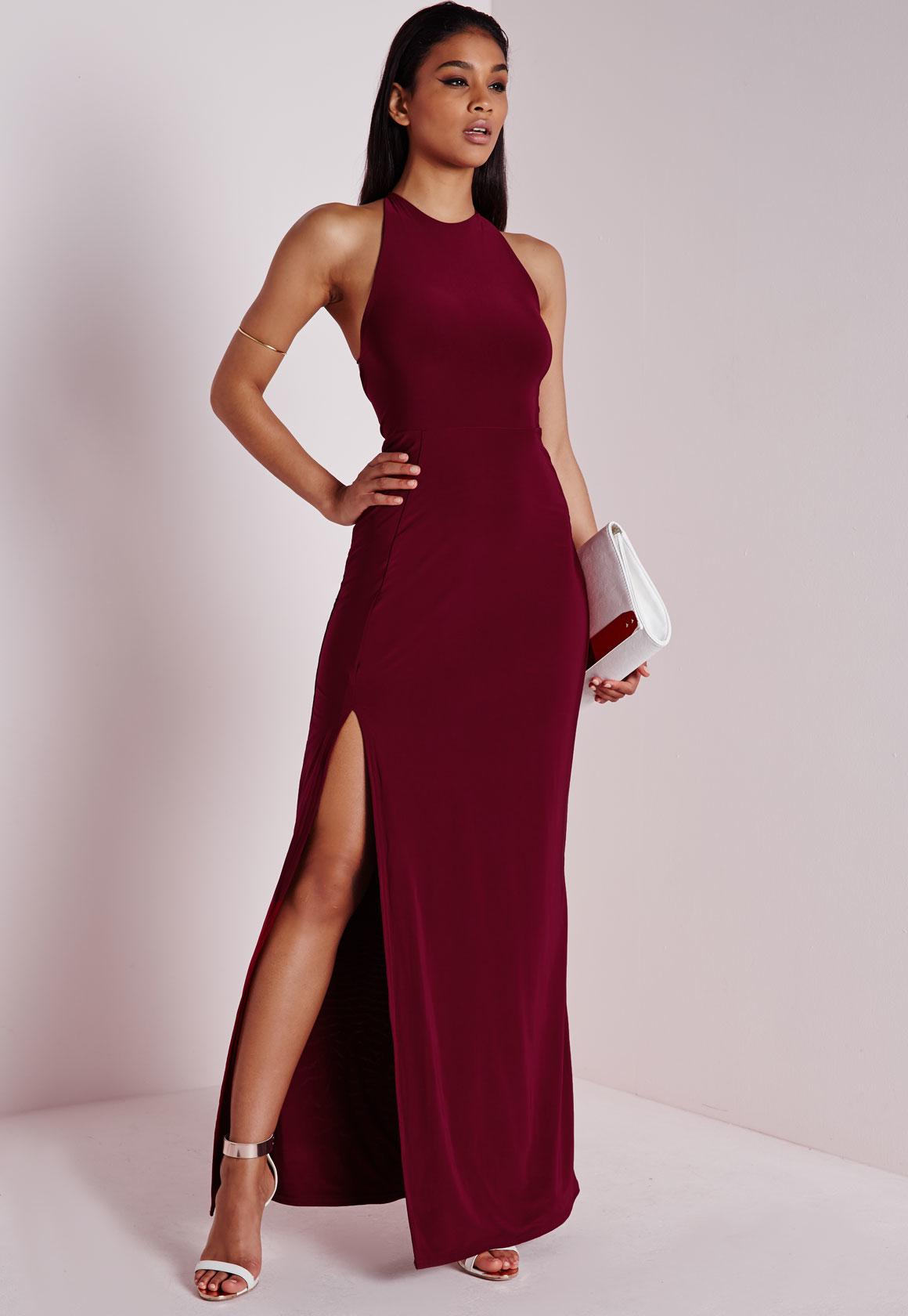 Lovely Burgundy Dress - Lace Dress - Lace Maxi Dress  Maroon Dress