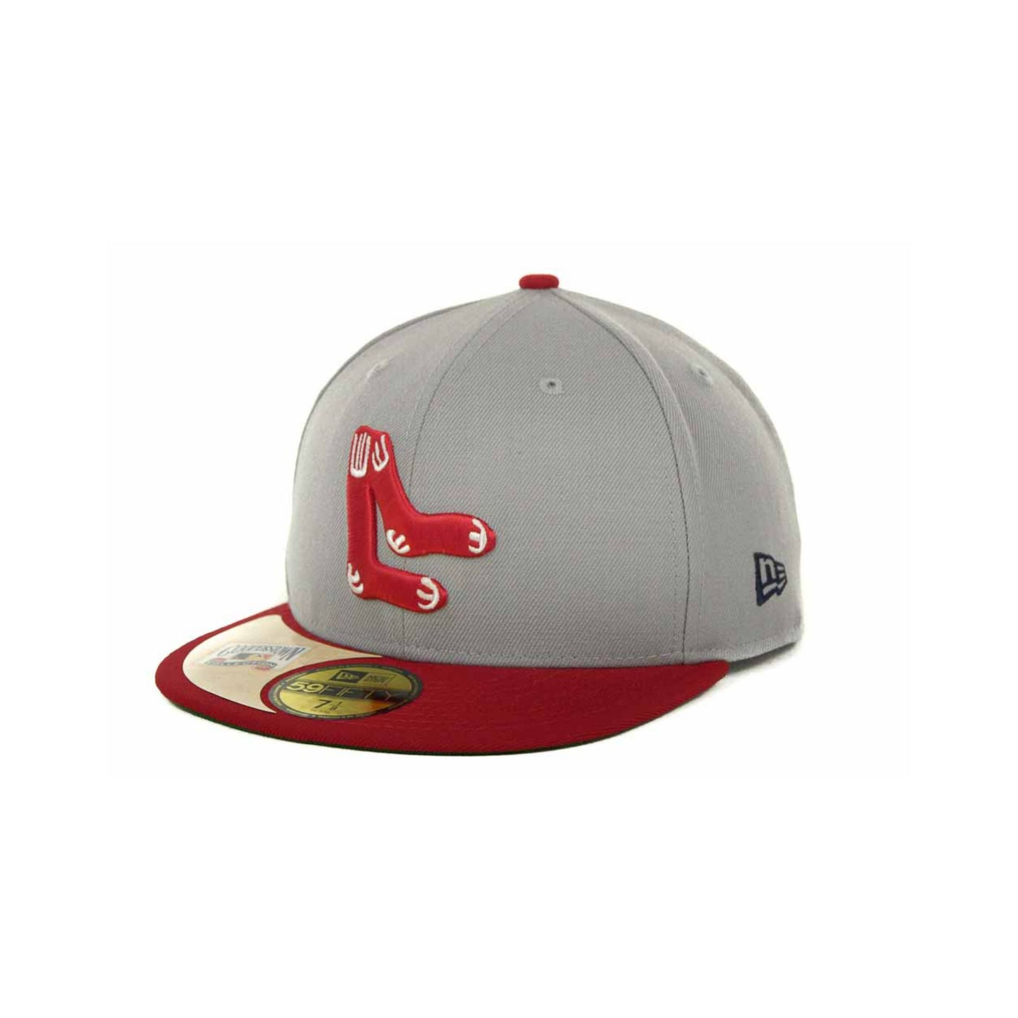 9733fc69 ... discount code for lyst ktz boston red sox cooperstown patch 59fifty cap  in gray for men