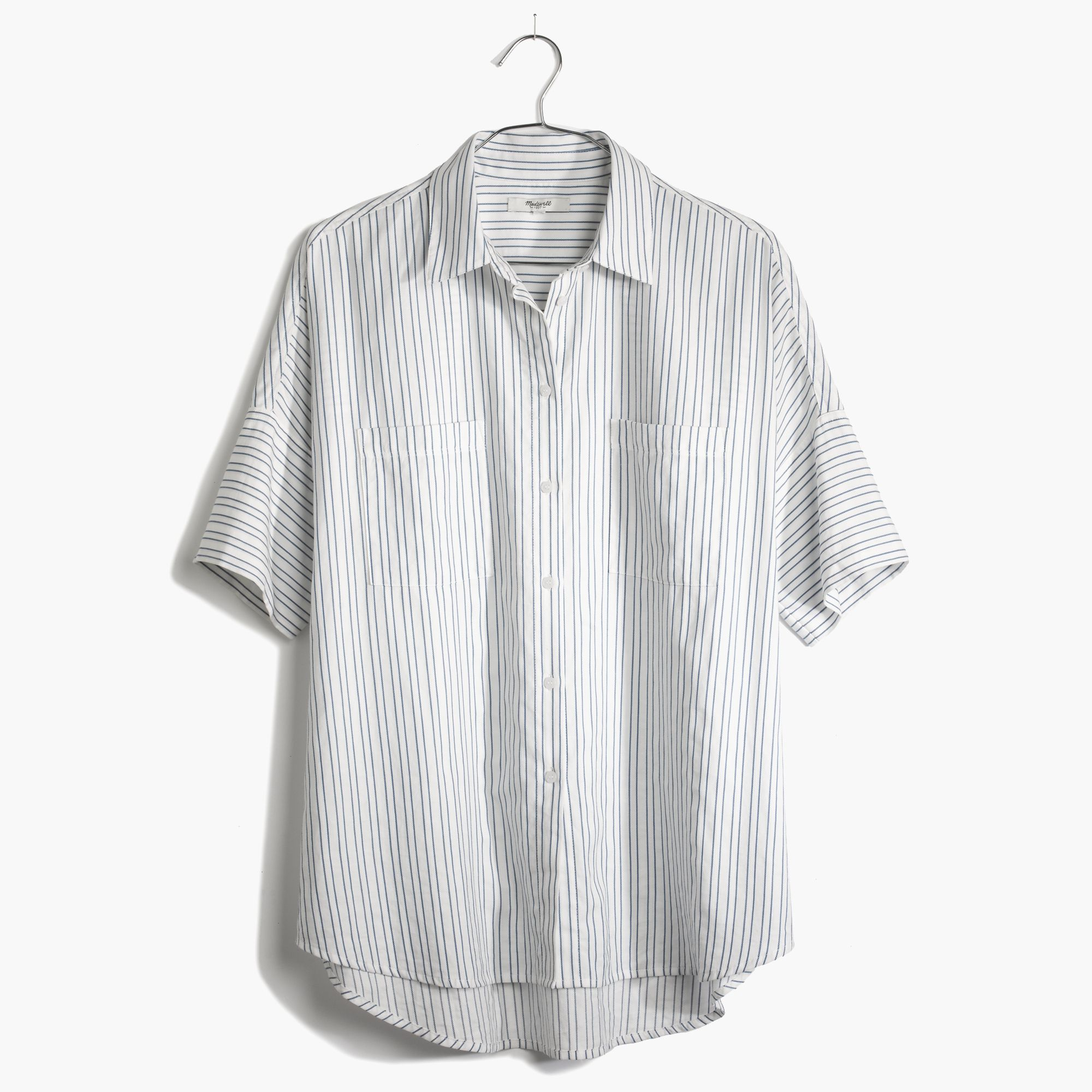 1ef8037c Madewell Courier Shirt In Stripe in White - Lyst