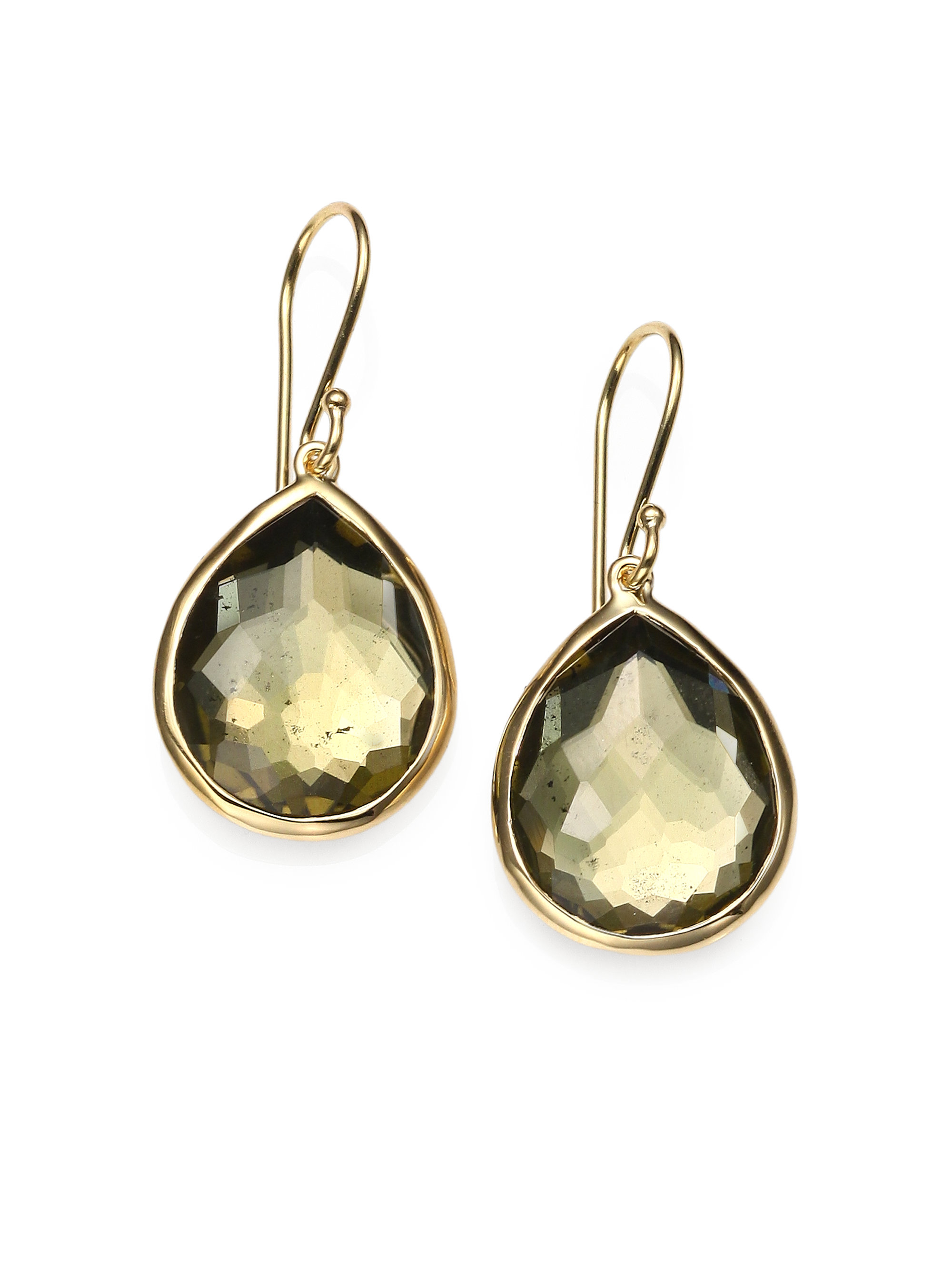 Ippolita 18k Gold Rock Candy Mini Lollipop Earrings QAVLUyH