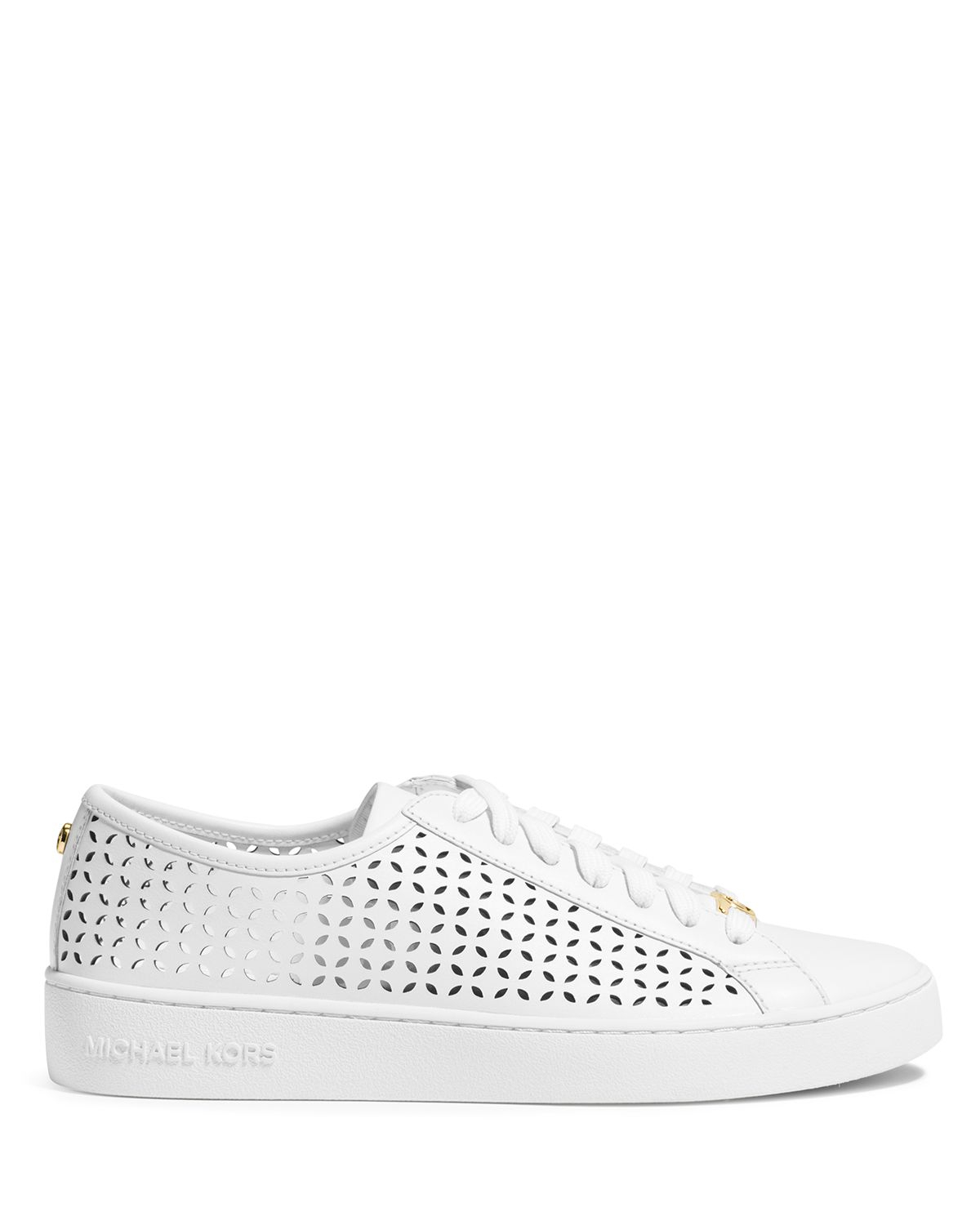 michael michael kors lace up sneakers perforated