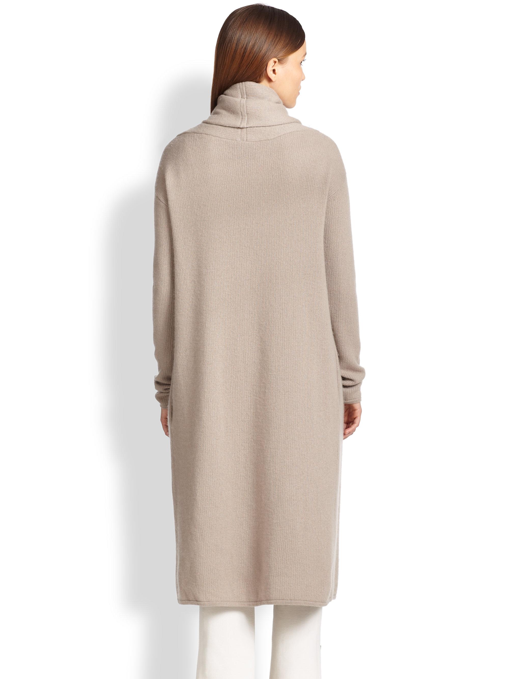 lyst donna karan cashmere blanket coat in gray. Black Bedroom Furniture Sets. Home Design Ideas