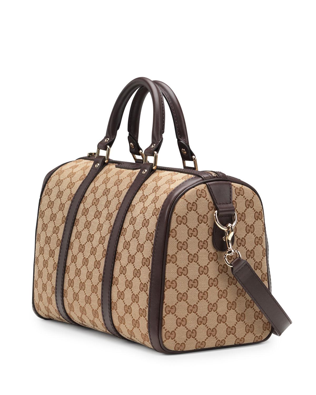 Boston Bag Patchwork Tutorial: Gucci Vintage Web Original Gg Canvas Boston Bag In Brown
