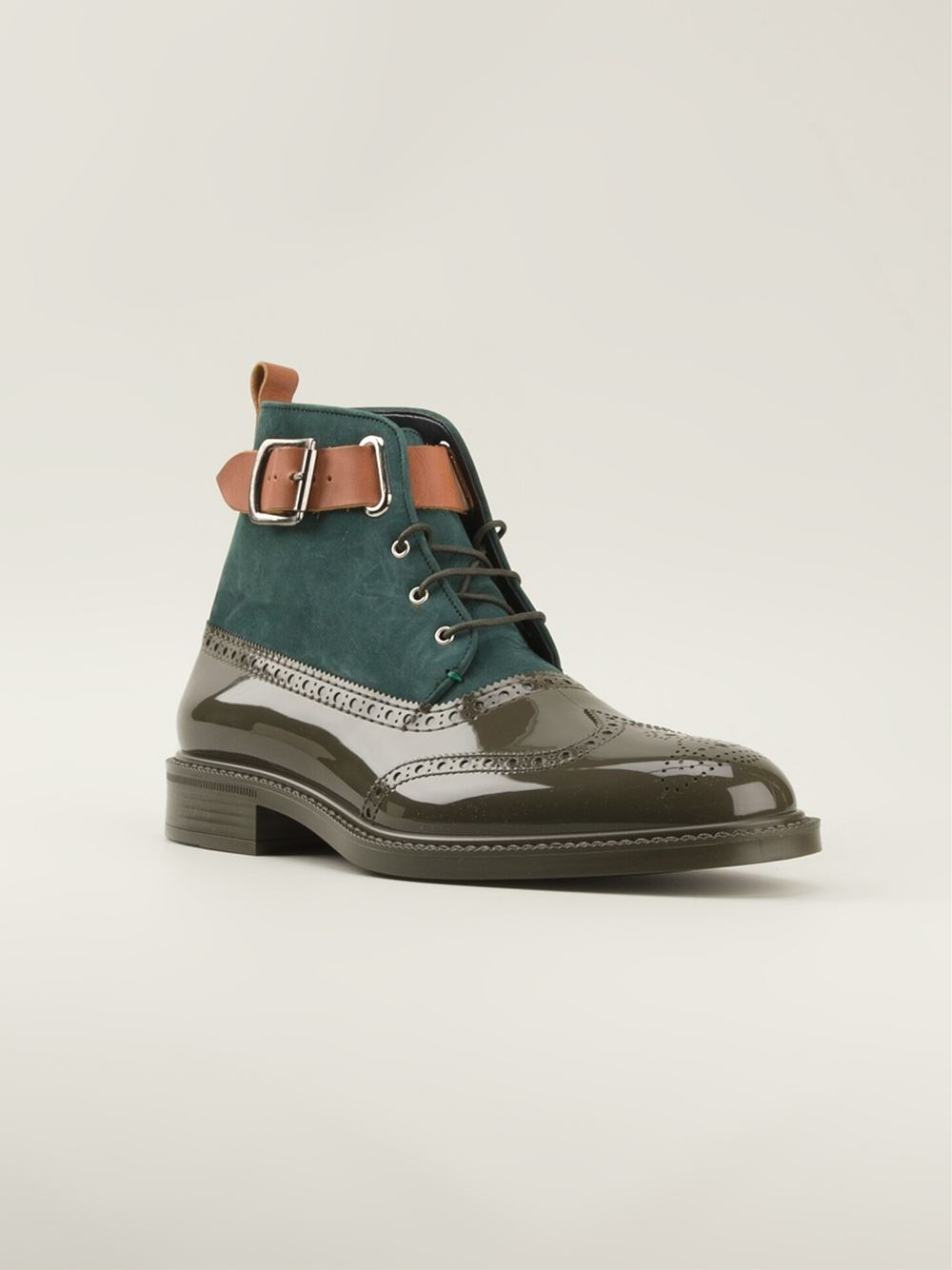 vivienne westwood brogue boots in green for brown lyst