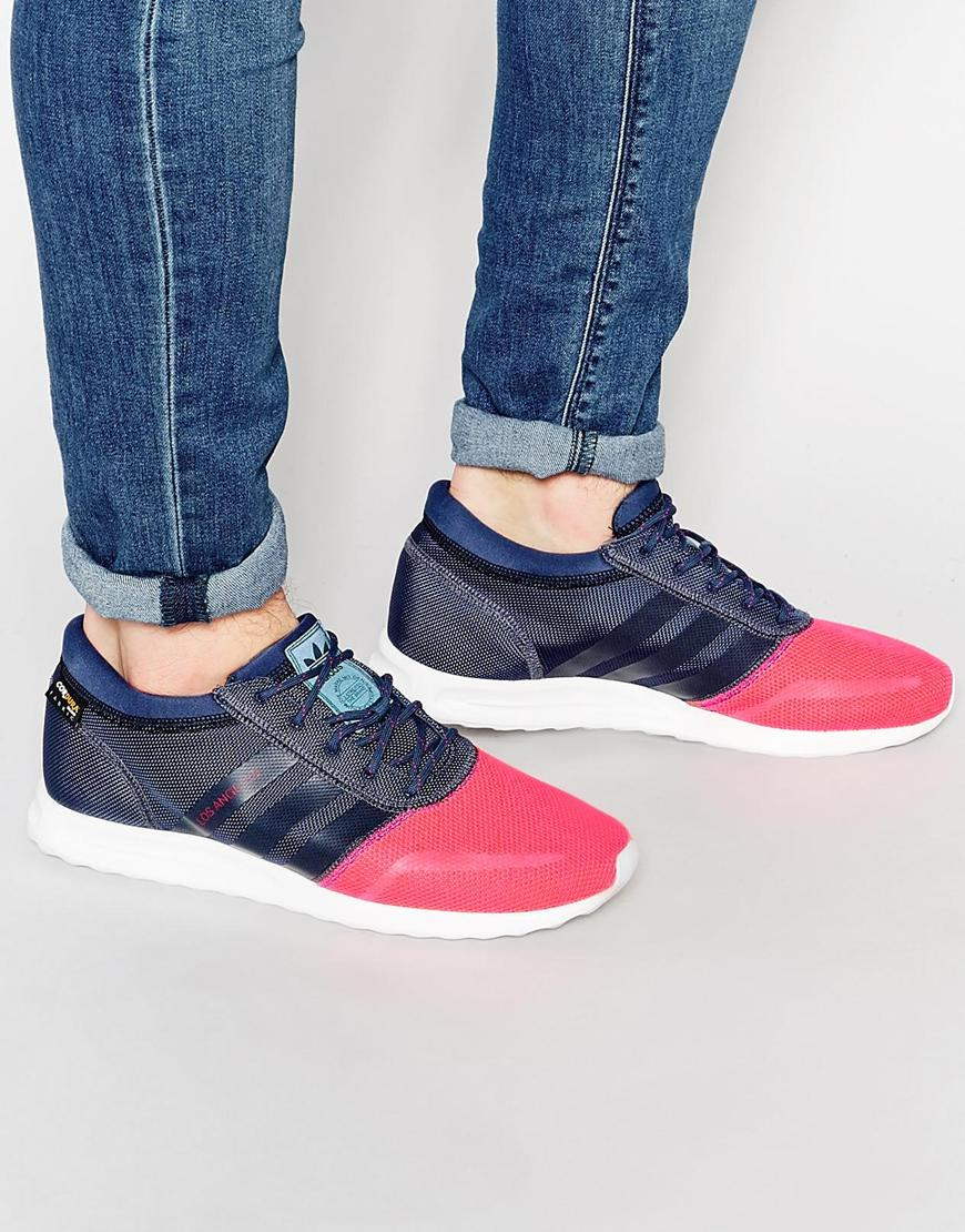 low priced 58df5 70c50 Lyst - adidas Originals Los Angeles Sneakers S79021 in Pink