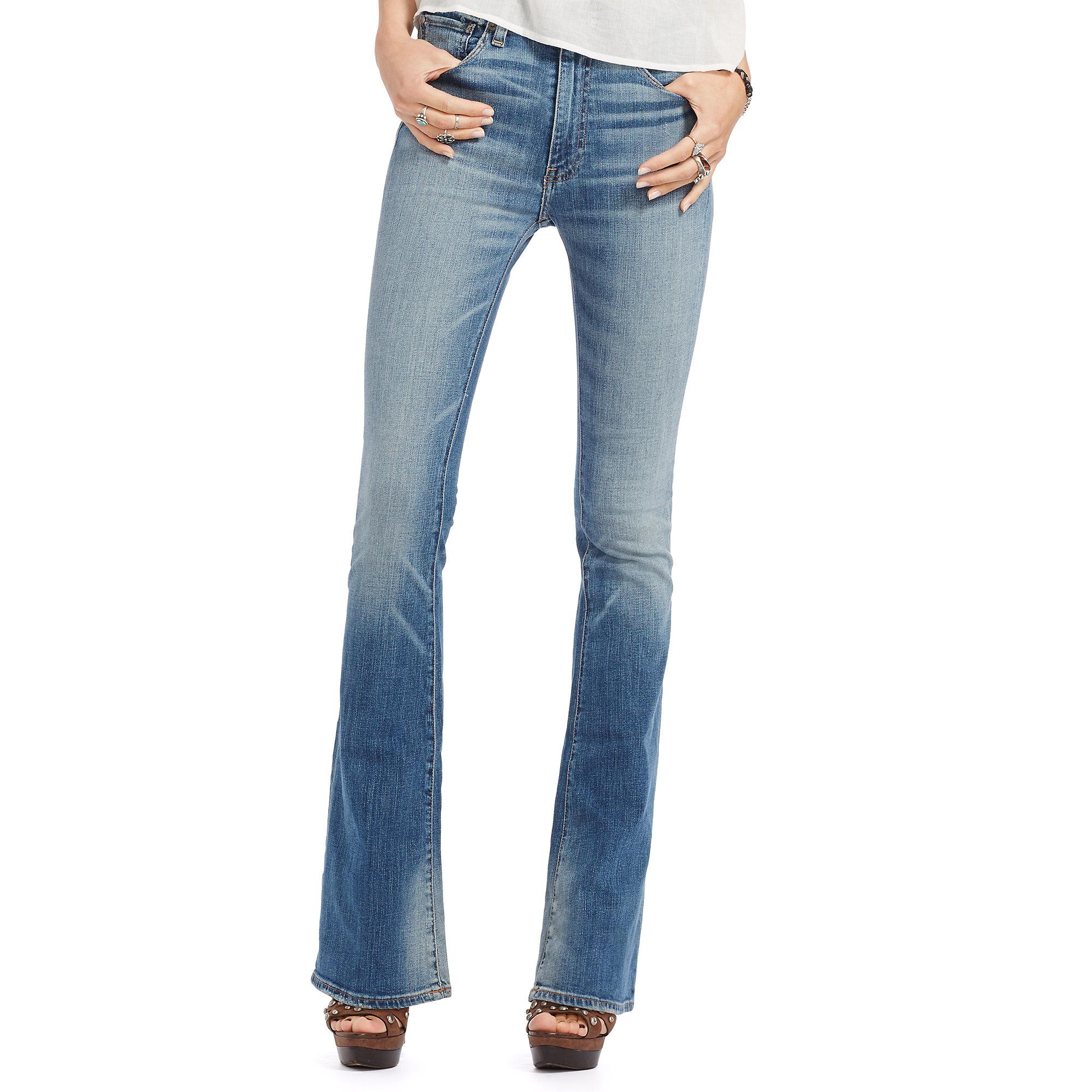2d585c5b3aa9e Denim & Supply Ralph Lauren Harris High-rise Flared Jean in Blue - Lyst