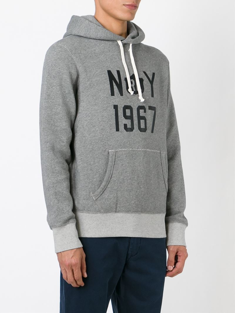 polo ralph lauren kangaroo pocket hoodie in gray for men. Black Bedroom Furniture Sets. Home Design Ideas