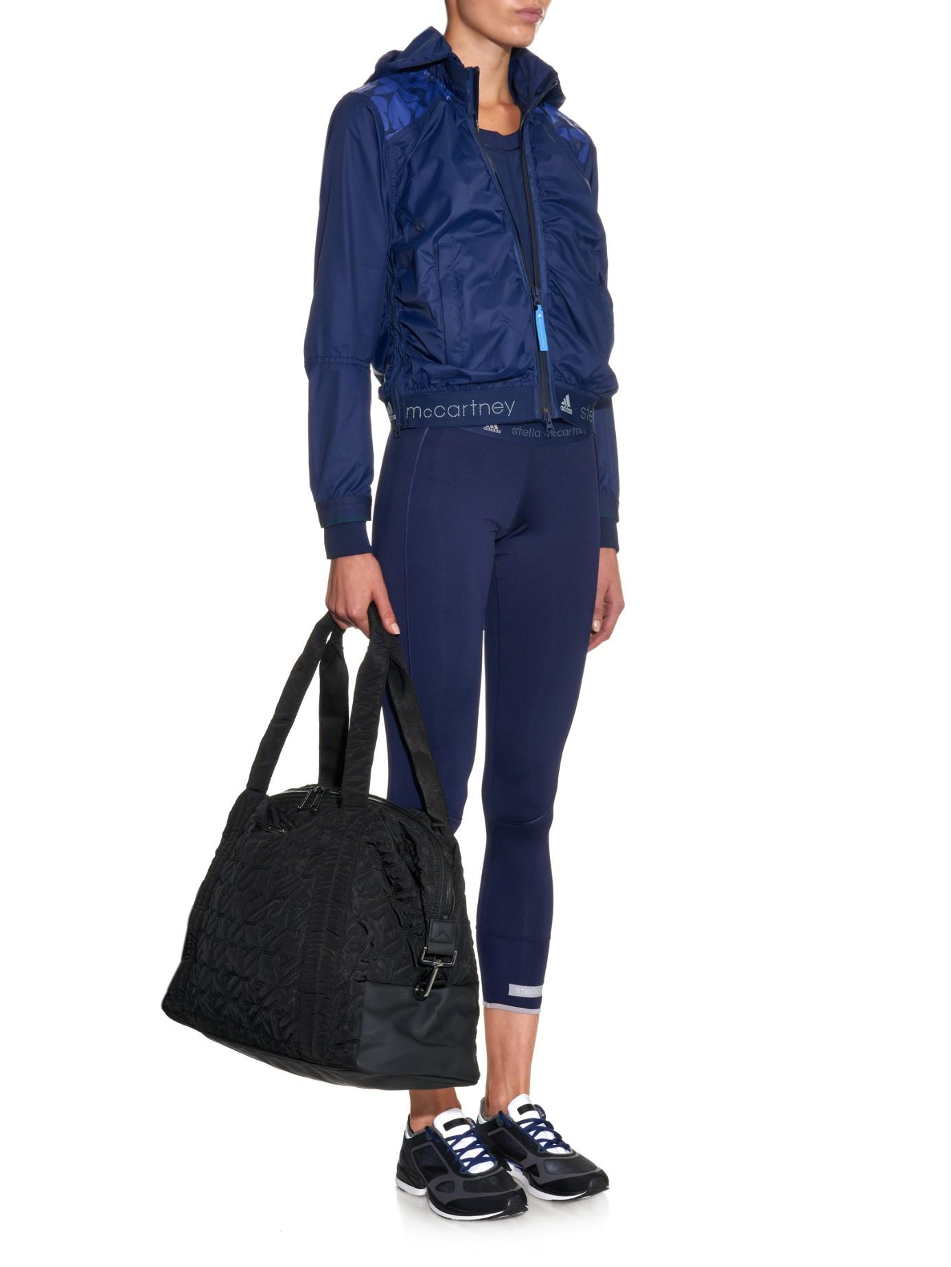4e0cc5aa1ef3 adidas By Stella McCartney Big Quilted-Nylon Gym Bag in Black - Lyst