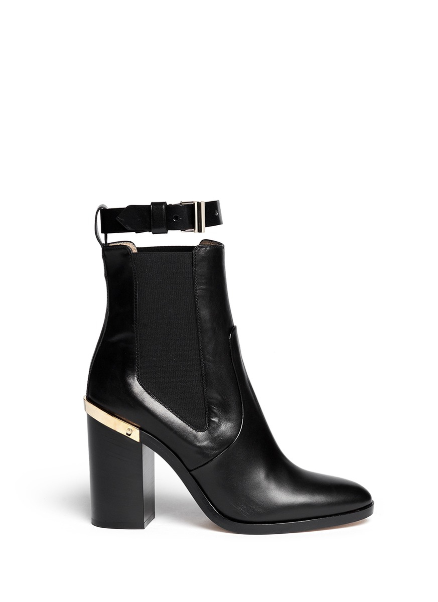 682a7b04f06ba5 Lyst - Reed Krakoff 'high Oxford' Leather Chelsea Boots in Black