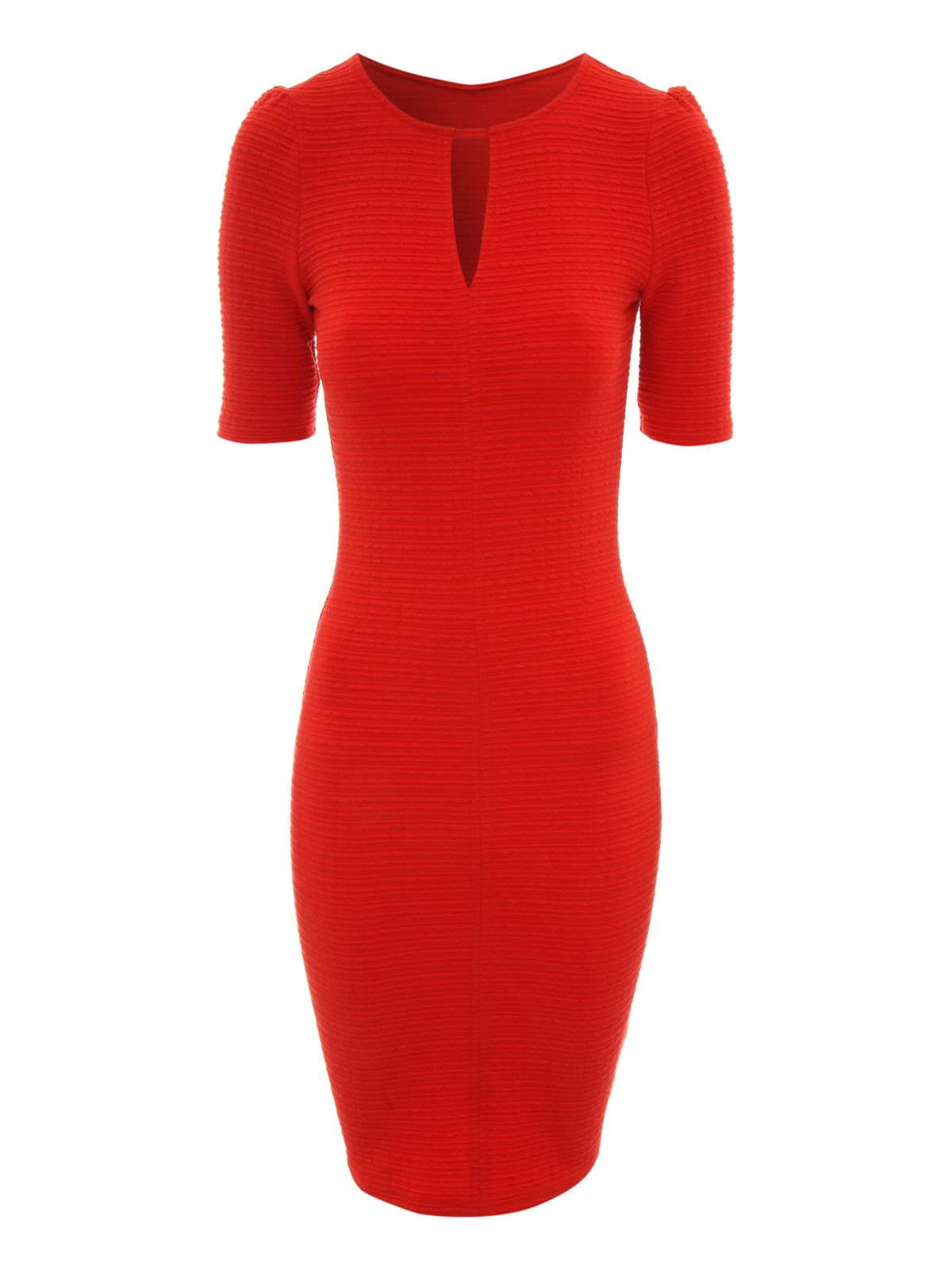 Jane norman Notch Neck Dress in Red | Lyst