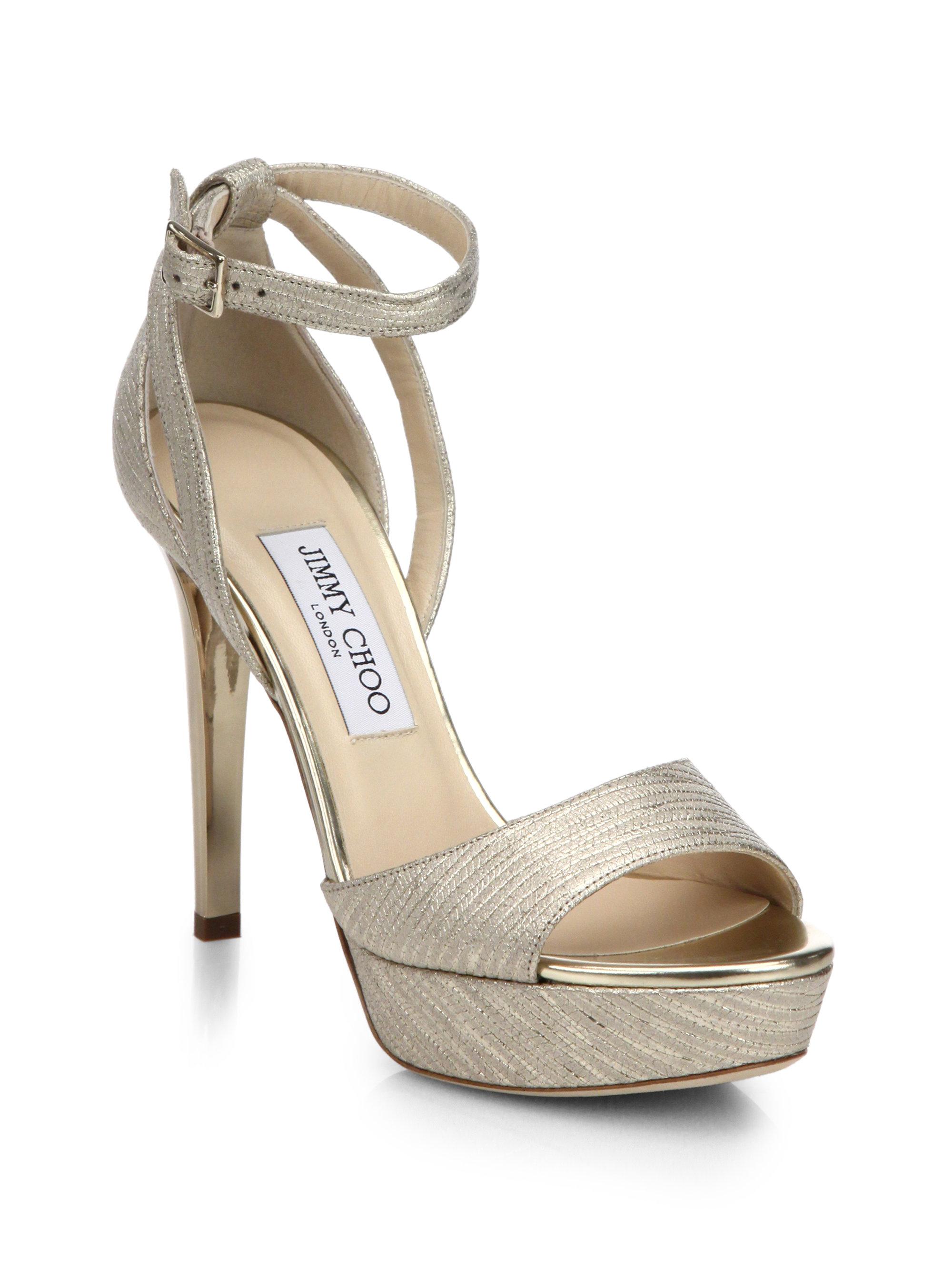 Jimmy Choo Gold Sandals