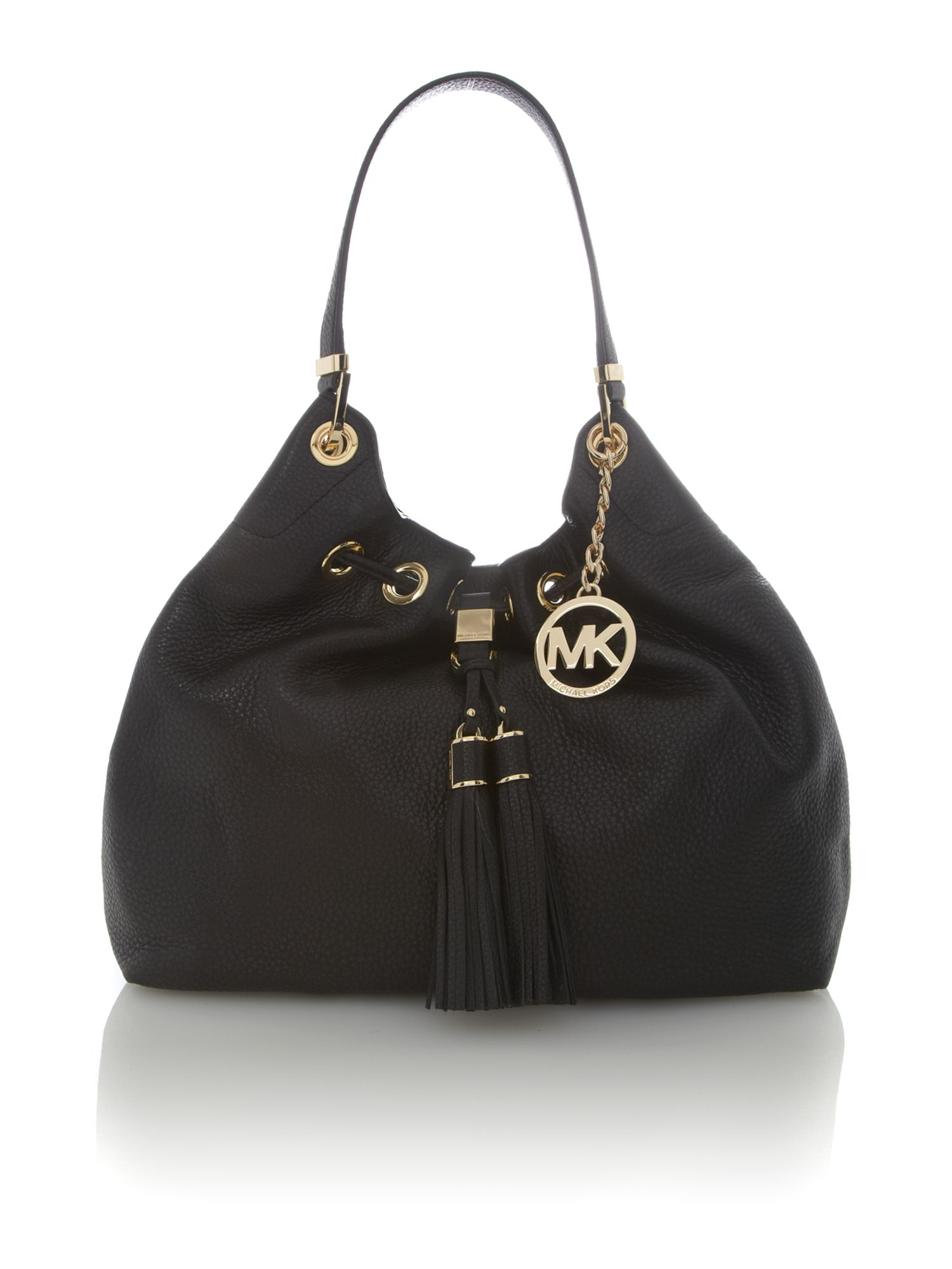 michael kors middleton black hobo bag in black lyst. Black Bedroom Furniture Sets. Home Design Ideas