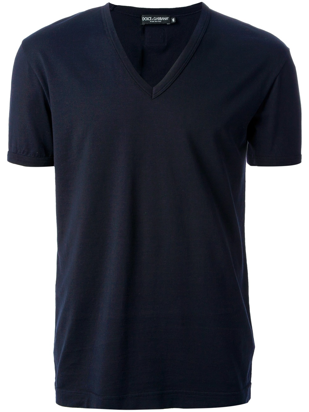 Dolce Gabbana Vneck Tshirt In Blue For Men Lyst