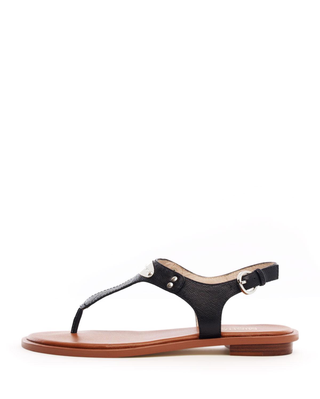 4f8d55806f908 MICHAEL Michael Kors Flat T-strap Thong Sandal in Black - Lyst