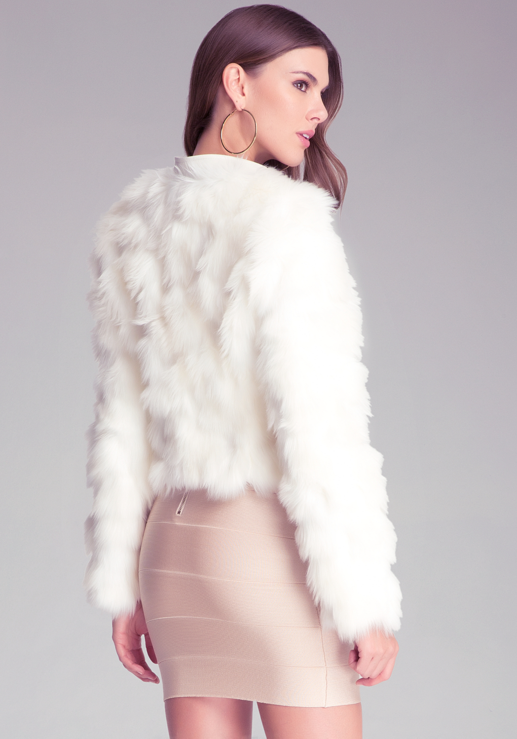 338861f63dfe Faux Fur White Jacket