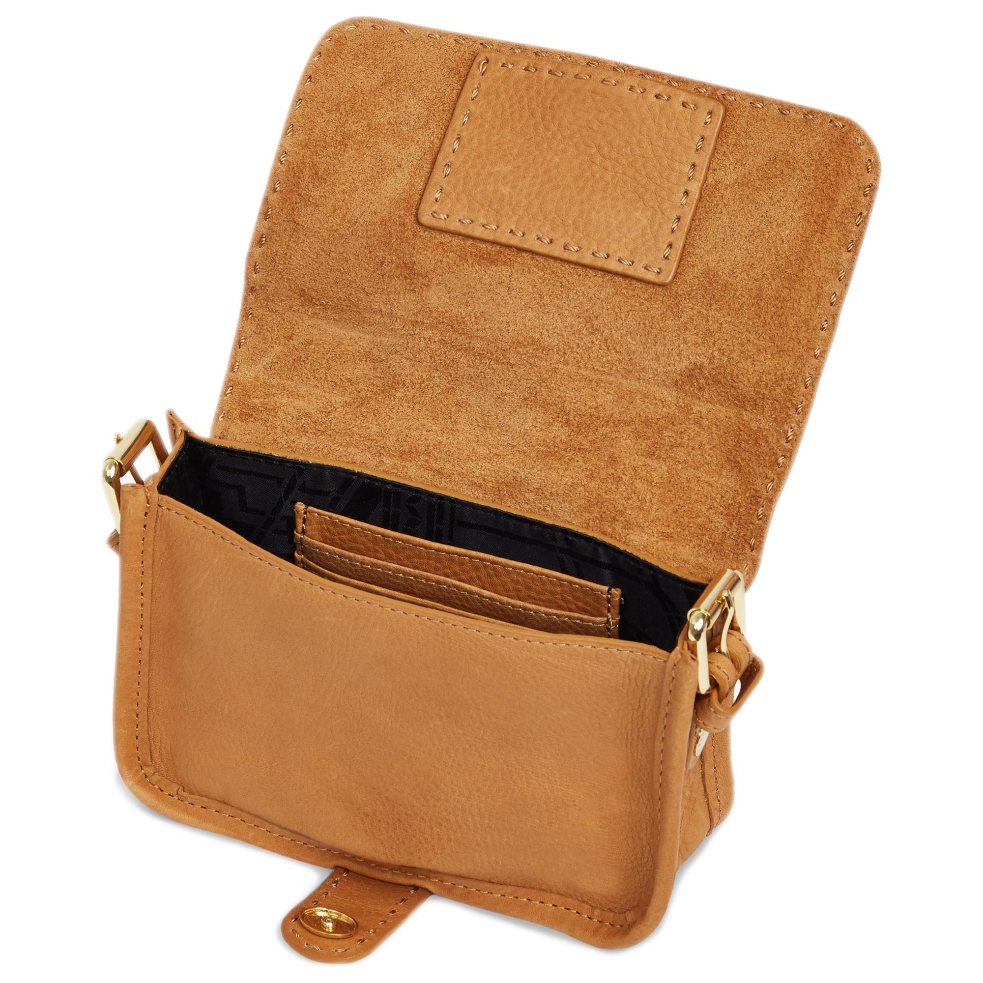 Ted Baker Minimar Stab Stitch Leather Cross Body Bag in Brown - Lyst bd50565f0de11