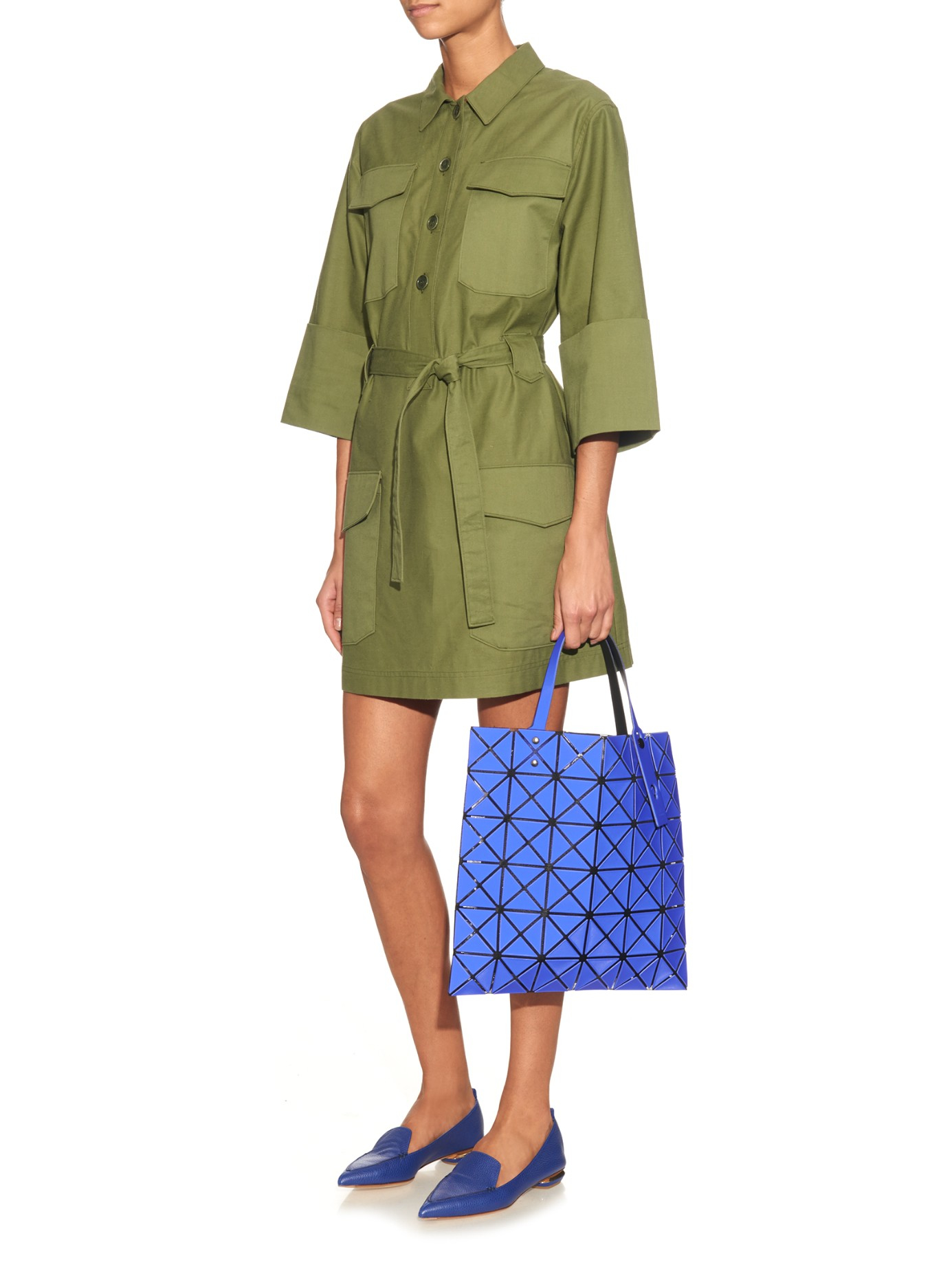 f558b5dc03d Lyst - Bao Bao Issey Miyake Lucent Basic Tote in Blue