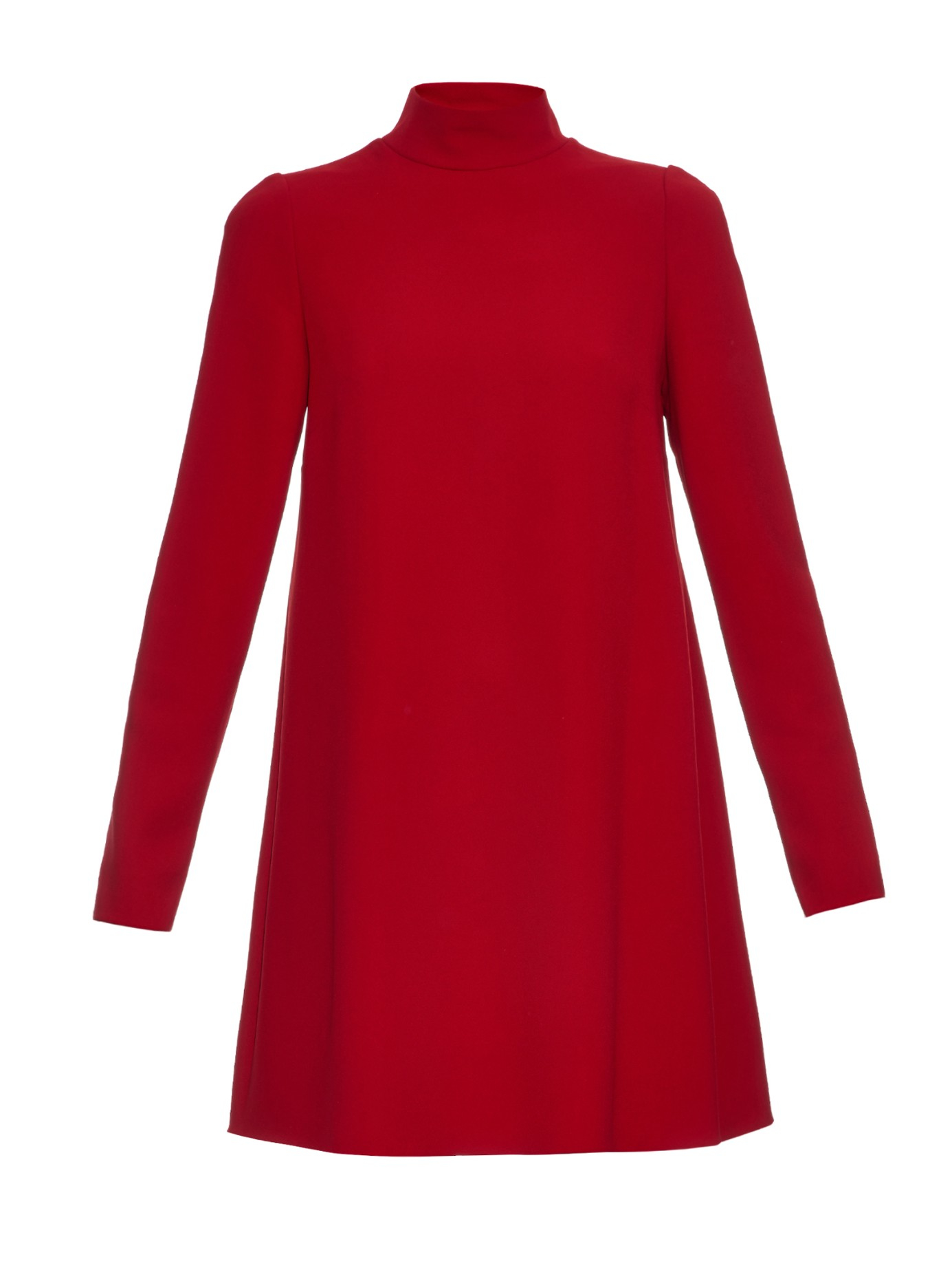 Dolce & gabbana High-Neck Tunic Dress in Red   Lyst