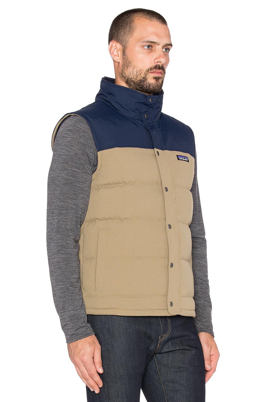 Lyst Patagonia Bivy Down Vest In Natural For Men