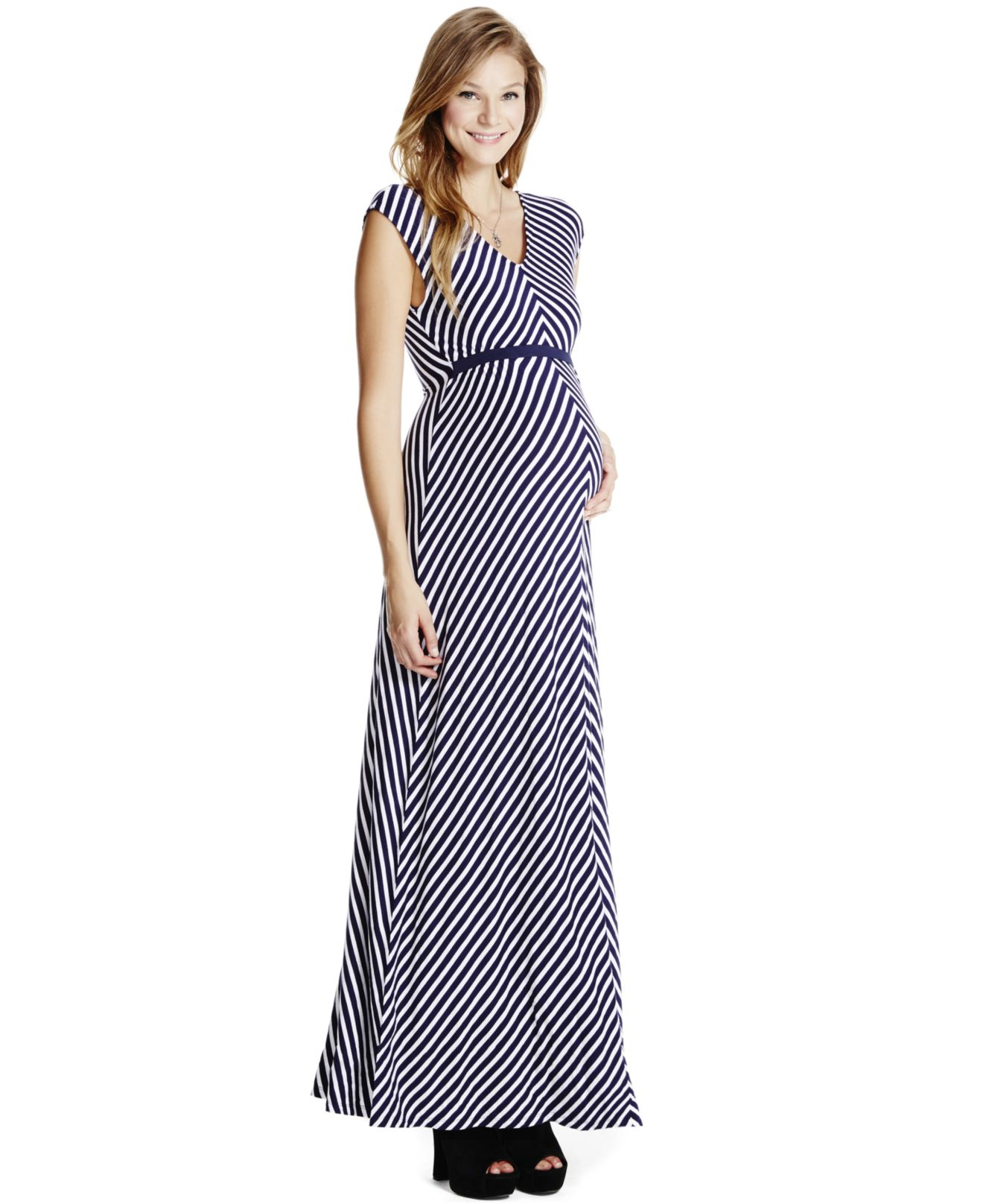 4e62c96faa4 Lyst - Jessica Simpson Maternity Printed Maxi Dress in Blue